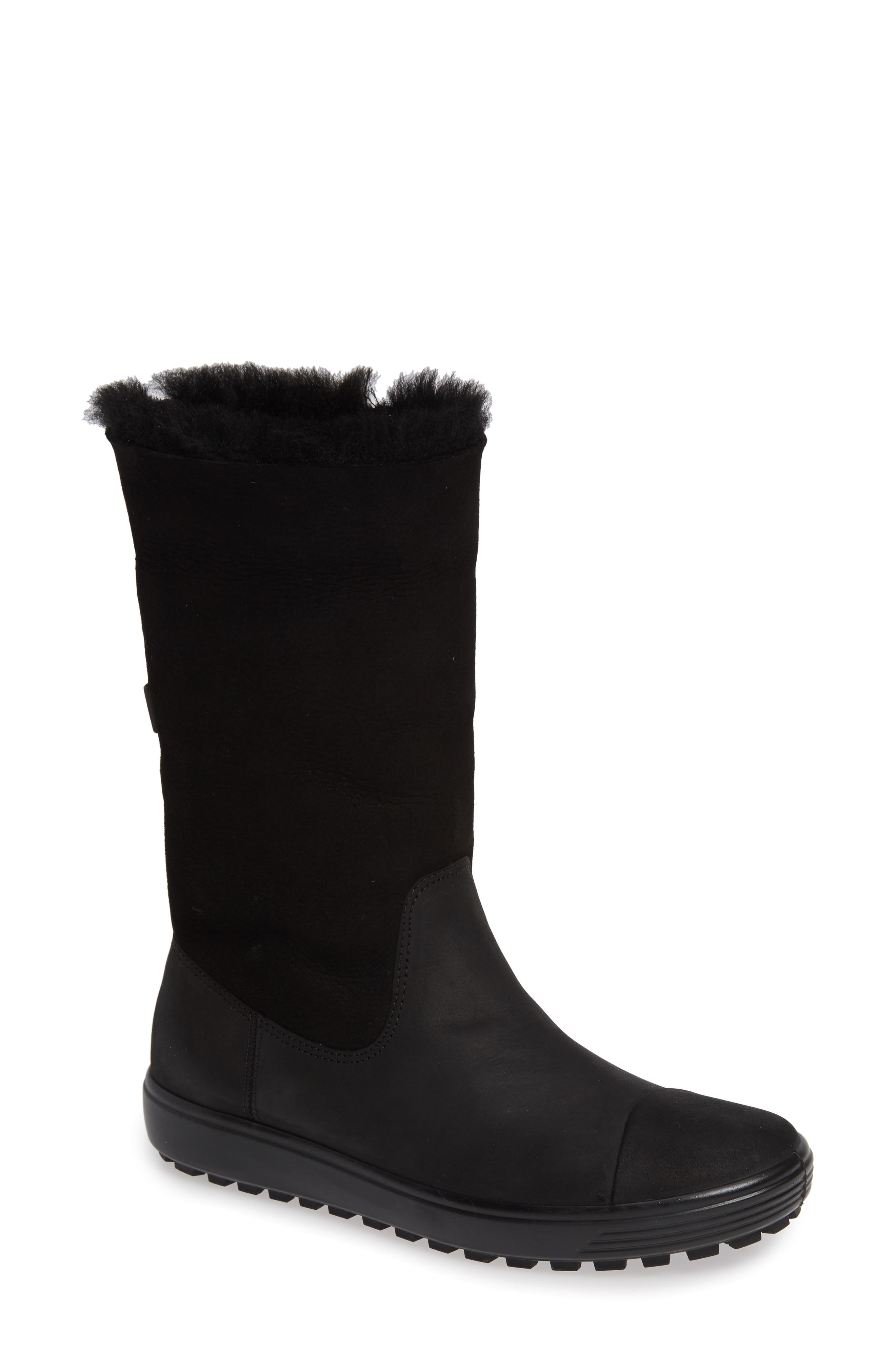 Soft 7 Tred Waterproof Genuine Shearling Lined Boot,                             Alternate thumbnail 2, color,                             BLACK NUBUCK LEATHER