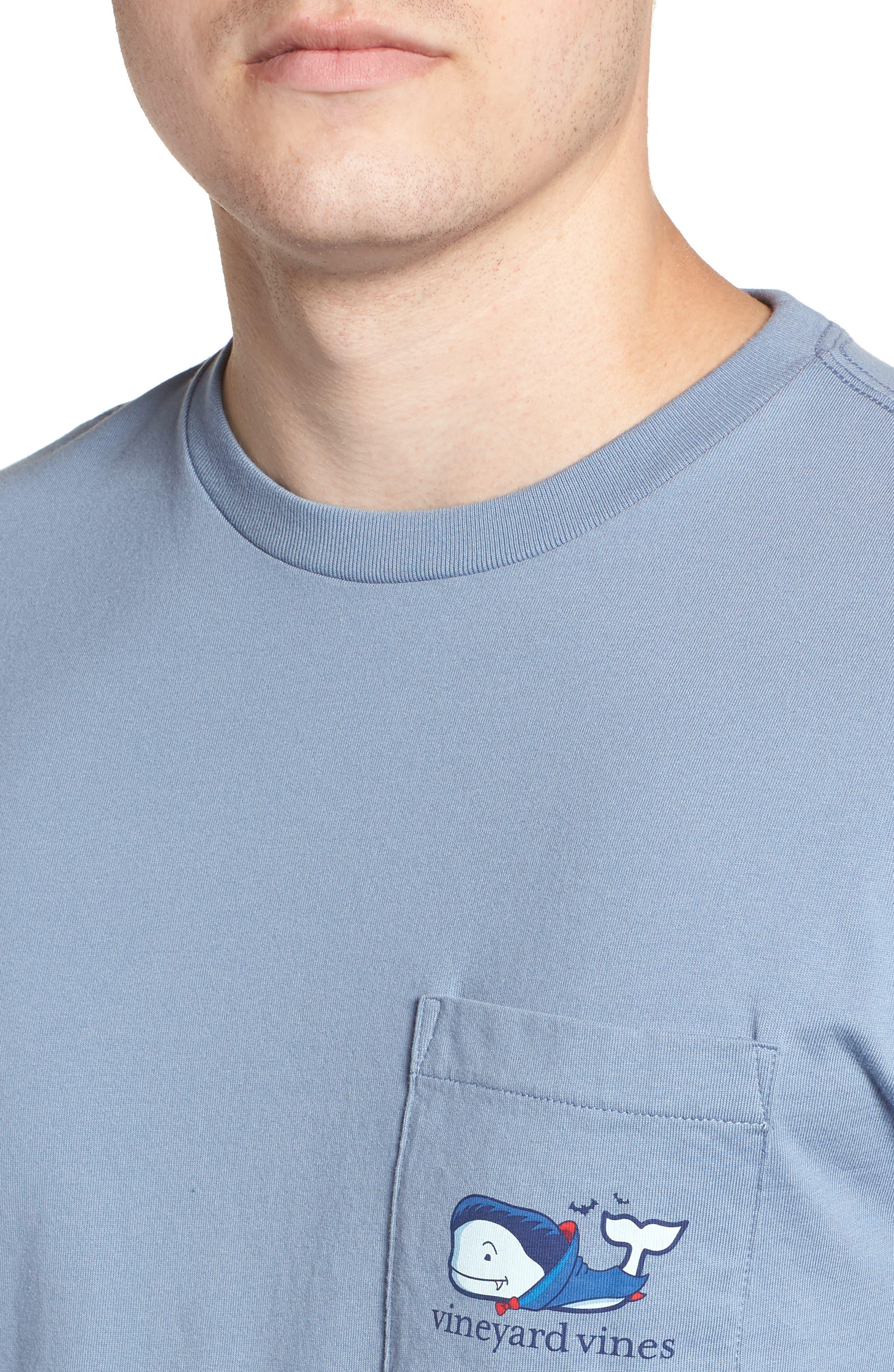 Vampire Whale Pocket T-Shirt,                             Alternate thumbnail 4, color,                             400