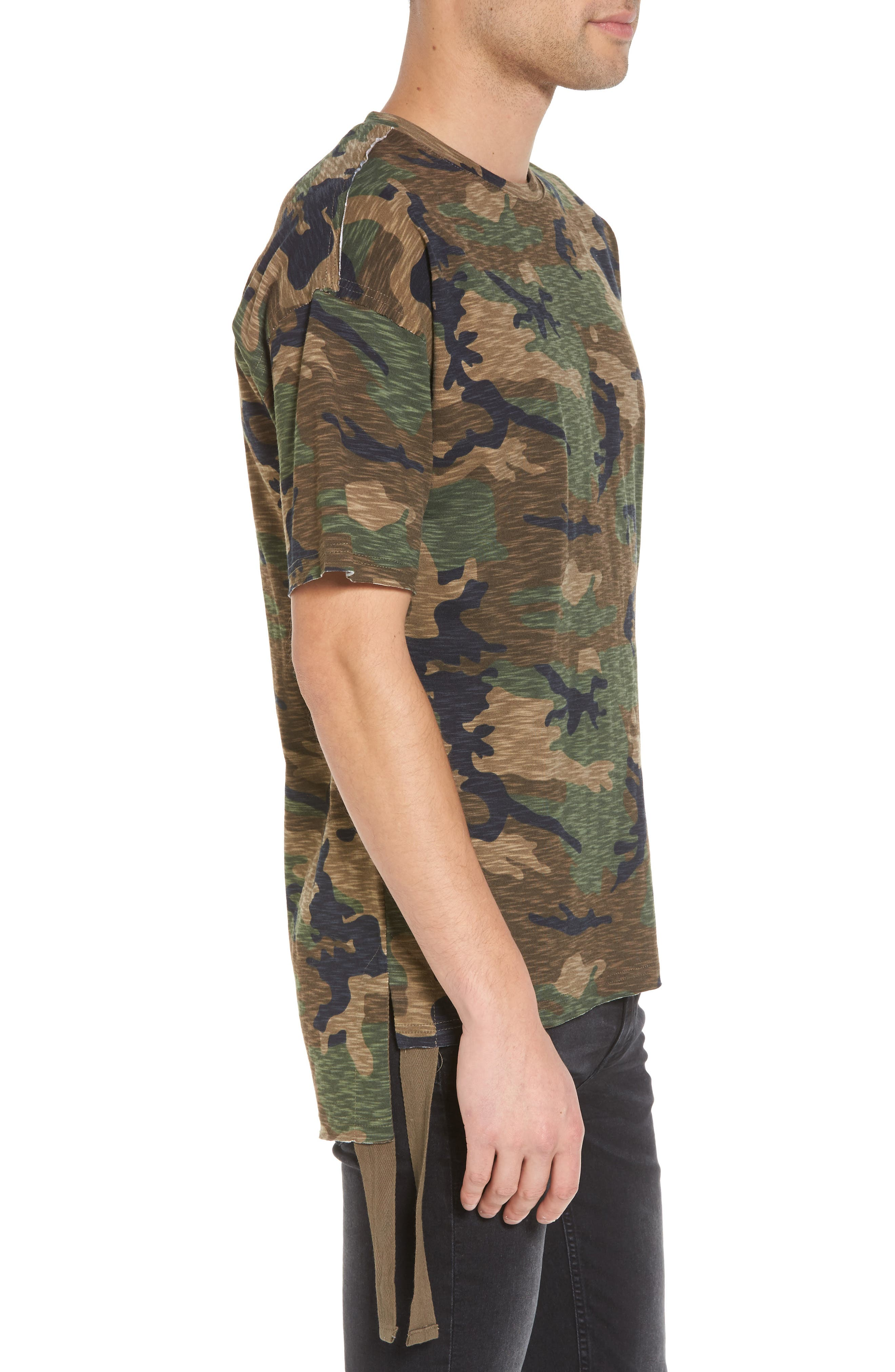 Camo Strapped T-Shirt,                             Alternate thumbnail 3, color,                             210