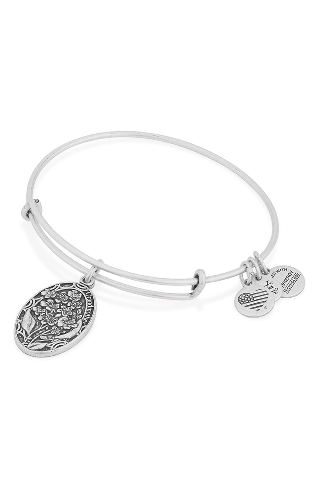 'I Love You Grandmother' Expandable Wire Bangle,                             Alternate thumbnail 4, color,                             040