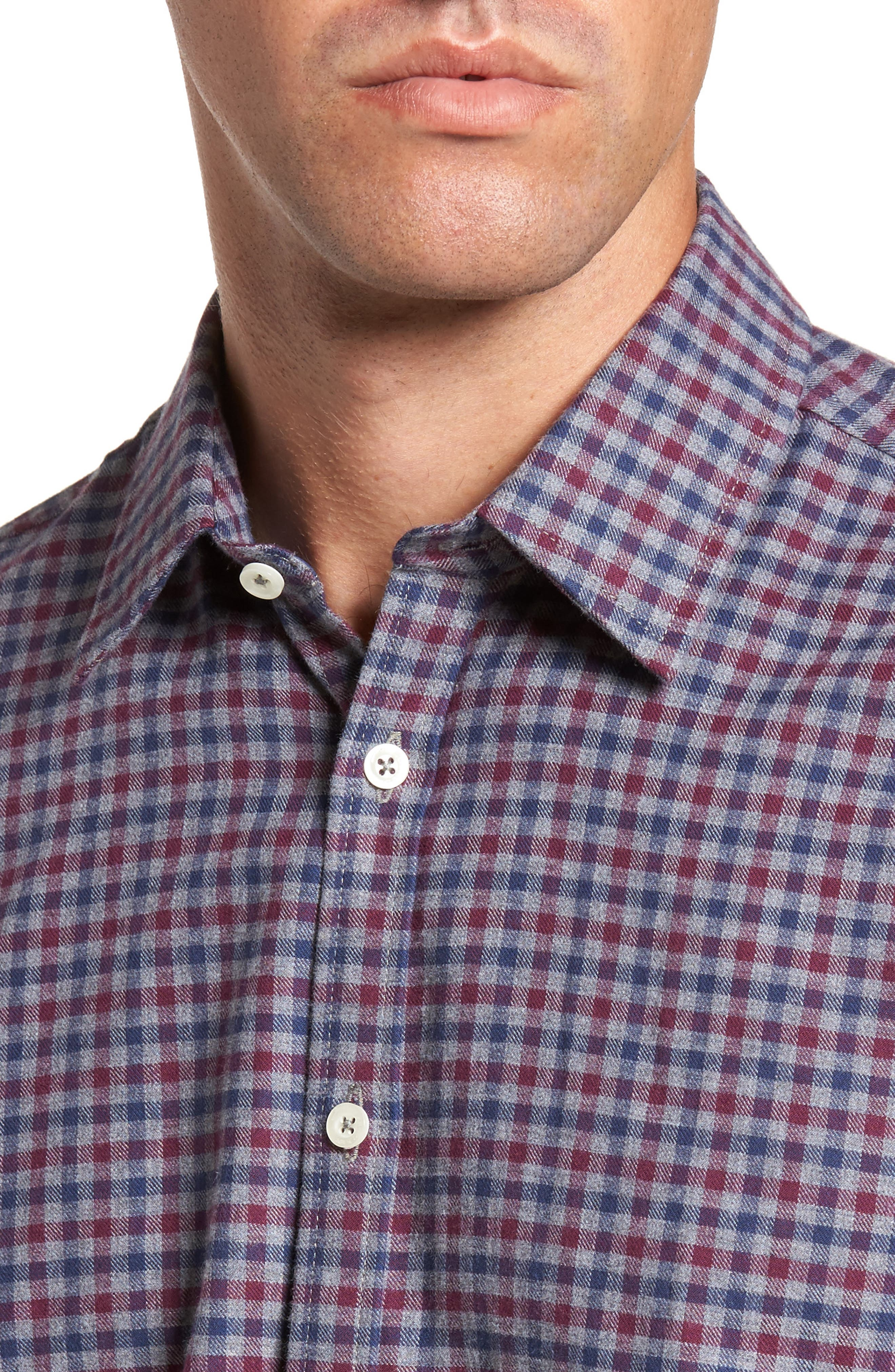 Slim Fit Check Sport Shirt,                             Alternate thumbnail 4, color,                             024