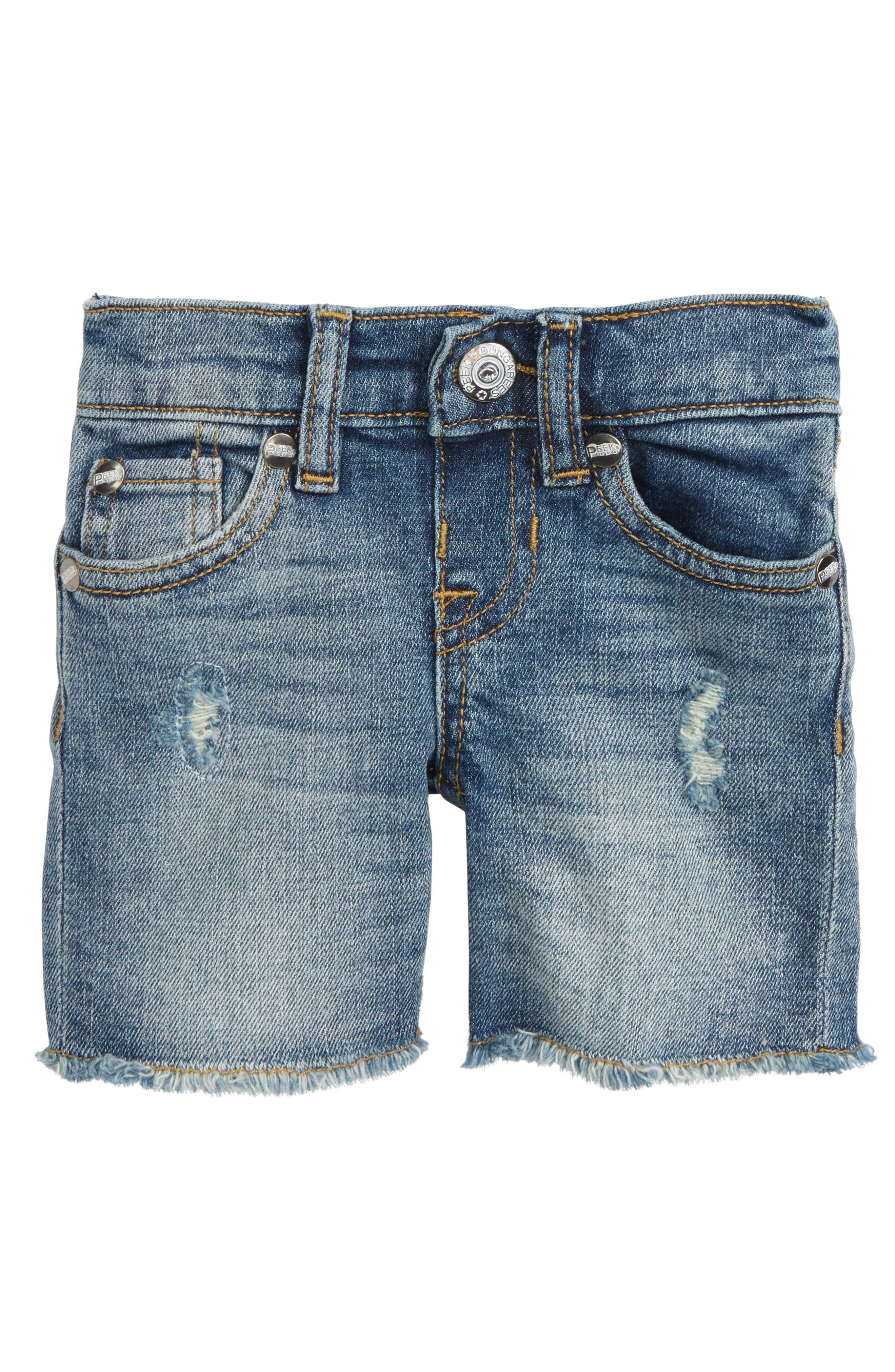 PEEK AREN'T YOU CURIOUS,                             Peek Fairfax Denim Shorts,                             Main thumbnail 1, color,                             400