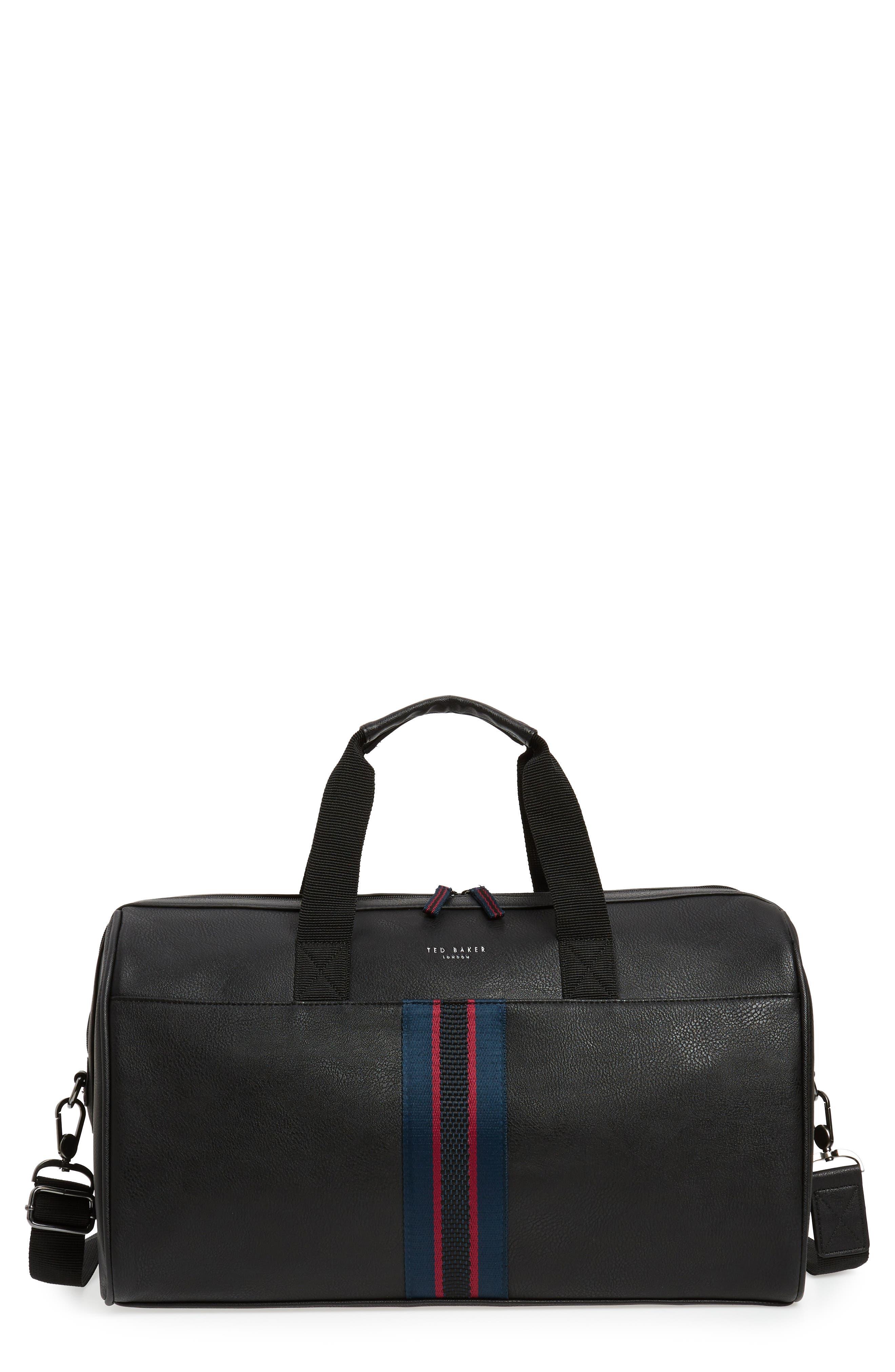 Webbing Duffel Bag,                             Main thumbnail 1, color,                             BLACK