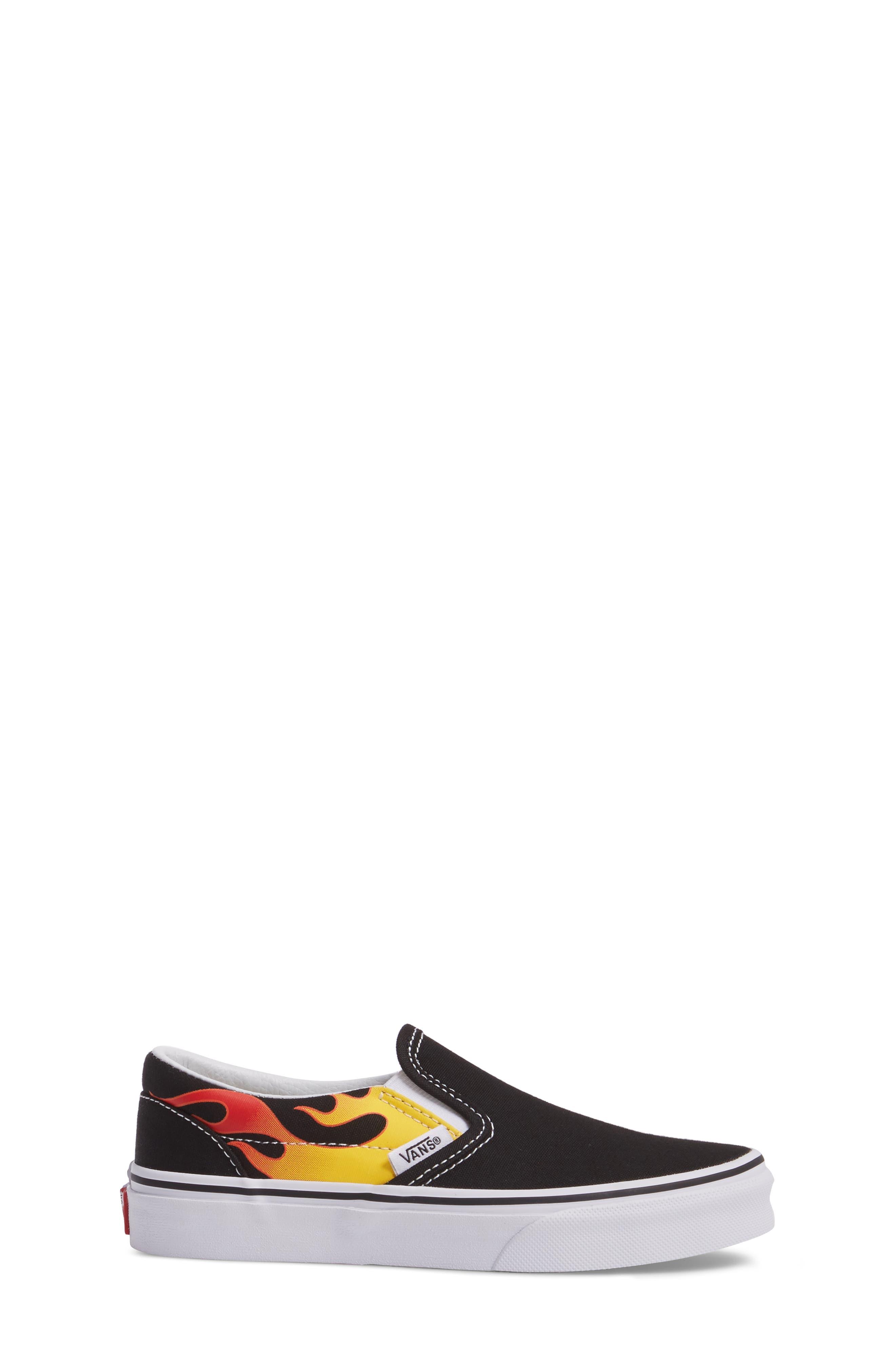 Flame Classic Slip-On Sneaker,                             Alternate thumbnail 3, color,                             002