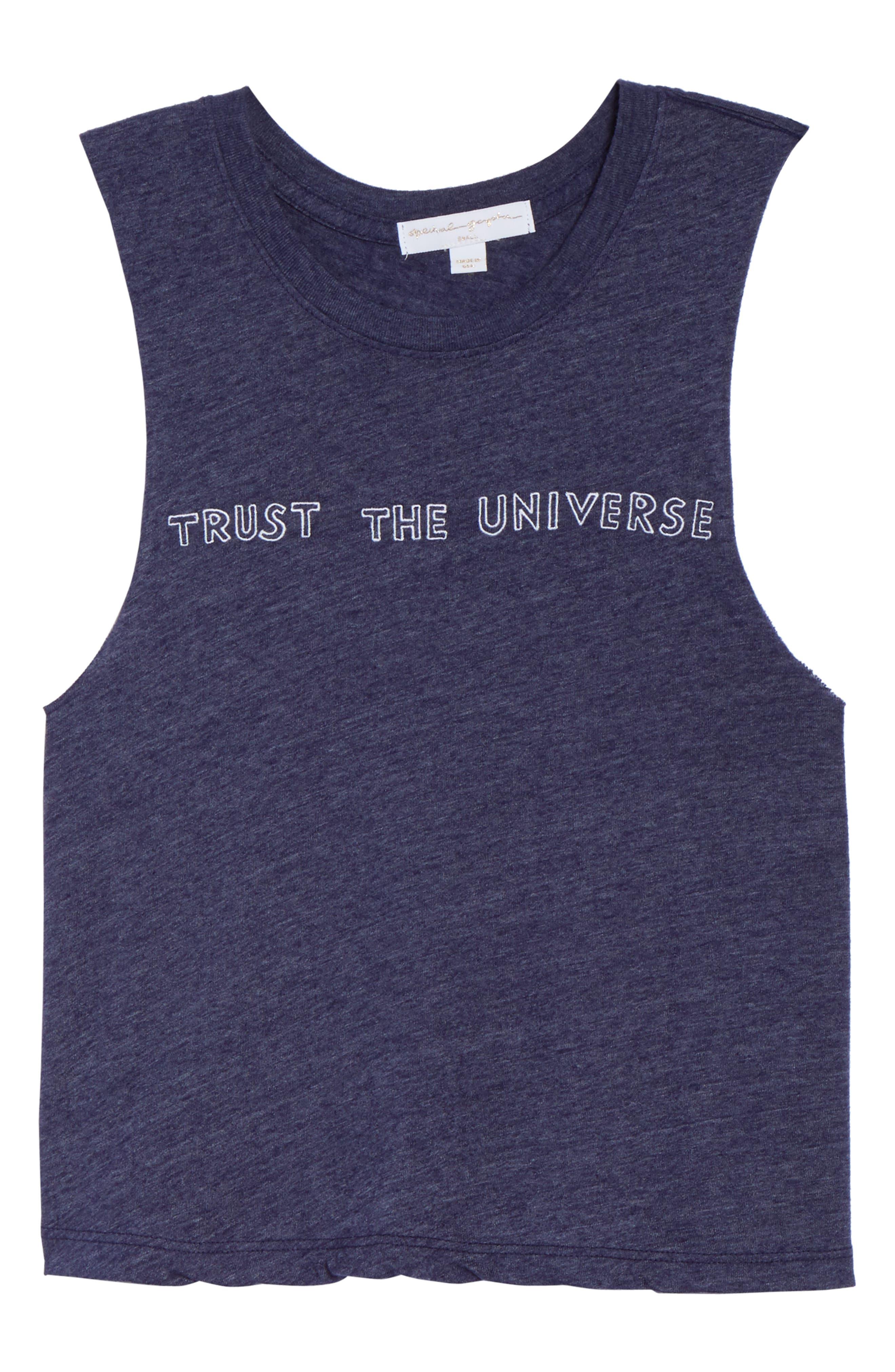 Trust the Universe Crop Tank,                             Alternate thumbnail 7, color,                             410