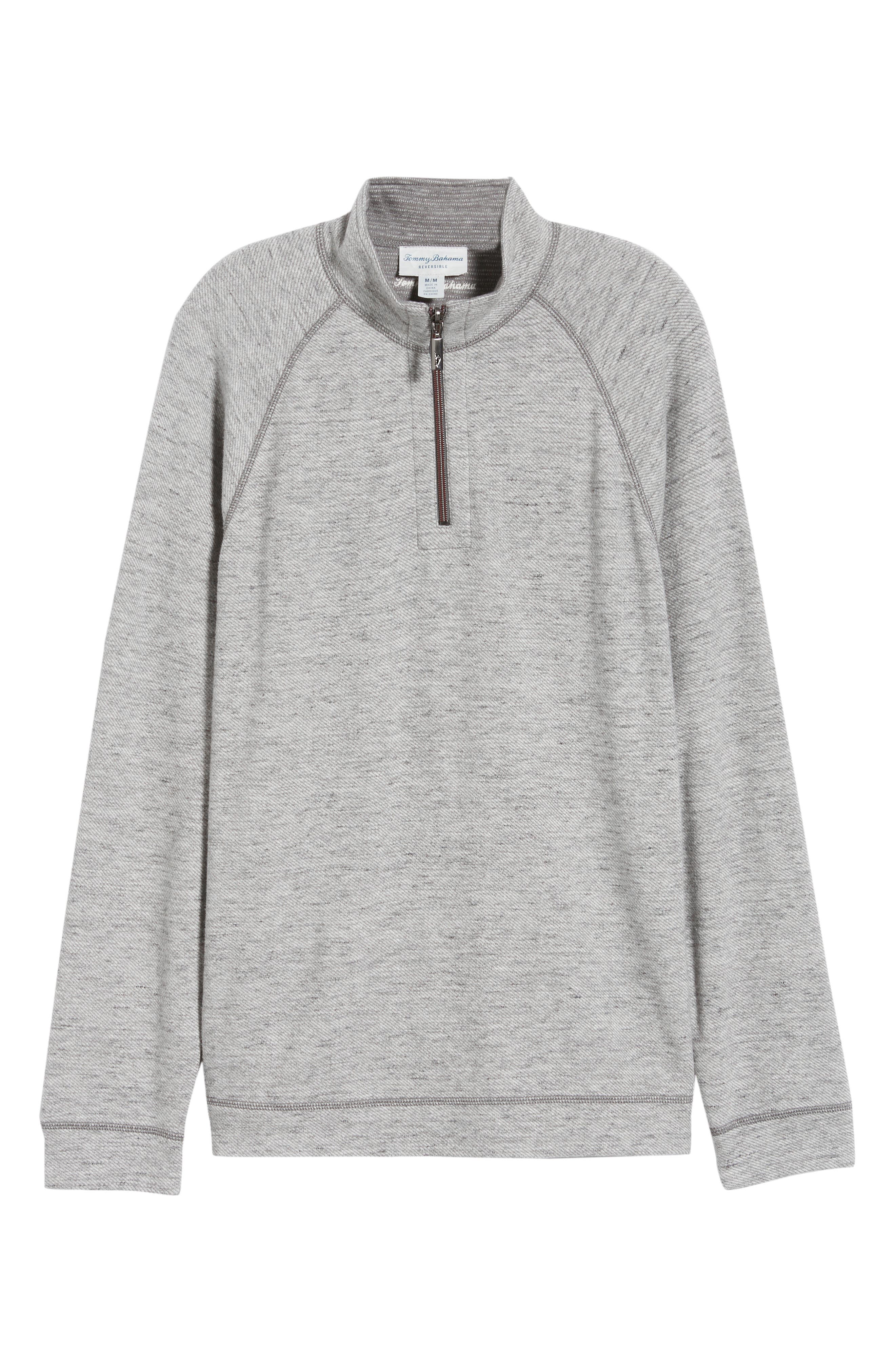 On the Doubles Mock Neck Quarter Zip Pullover,                             Alternate thumbnail 8, color,                             STEEL WOOL HEATHER