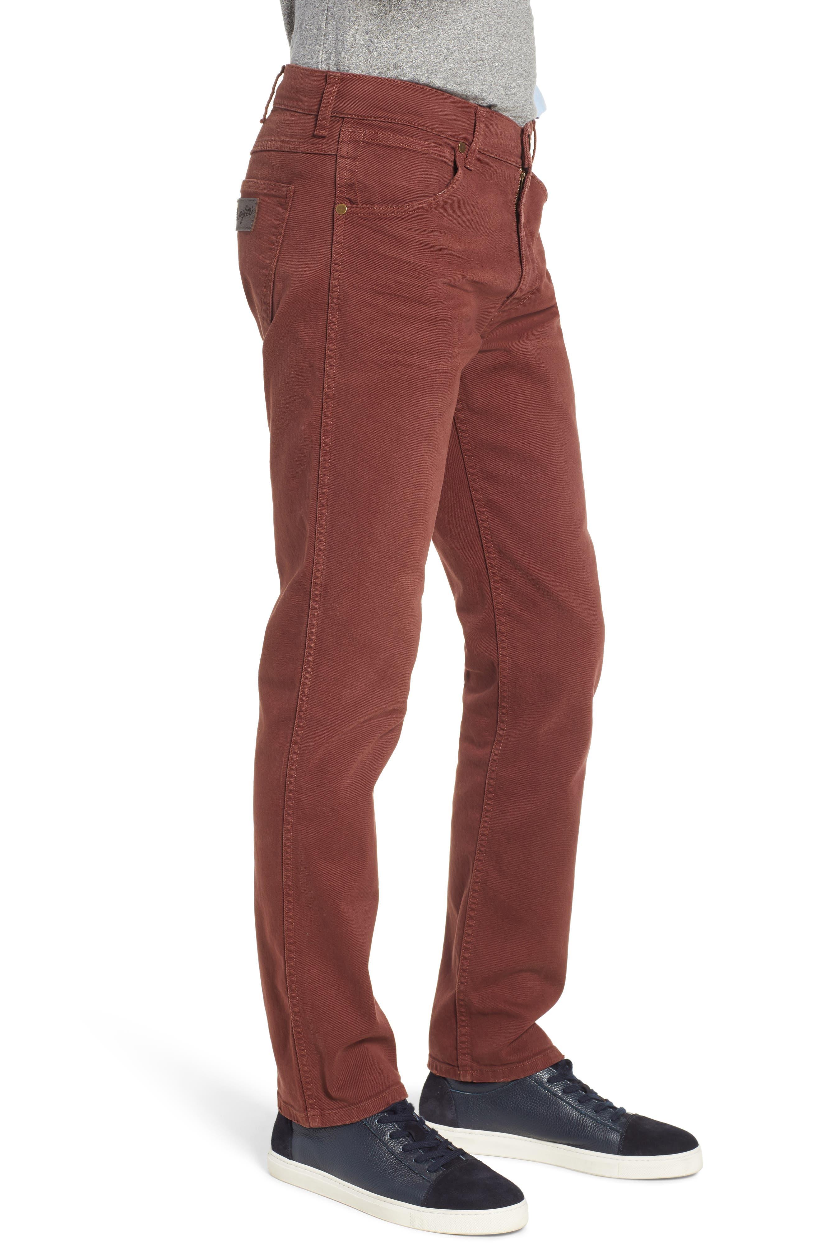 Greensboro Straight Leg Twill Pants,                             Alternate thumbnail 3, color,                             MAHOGANY RED