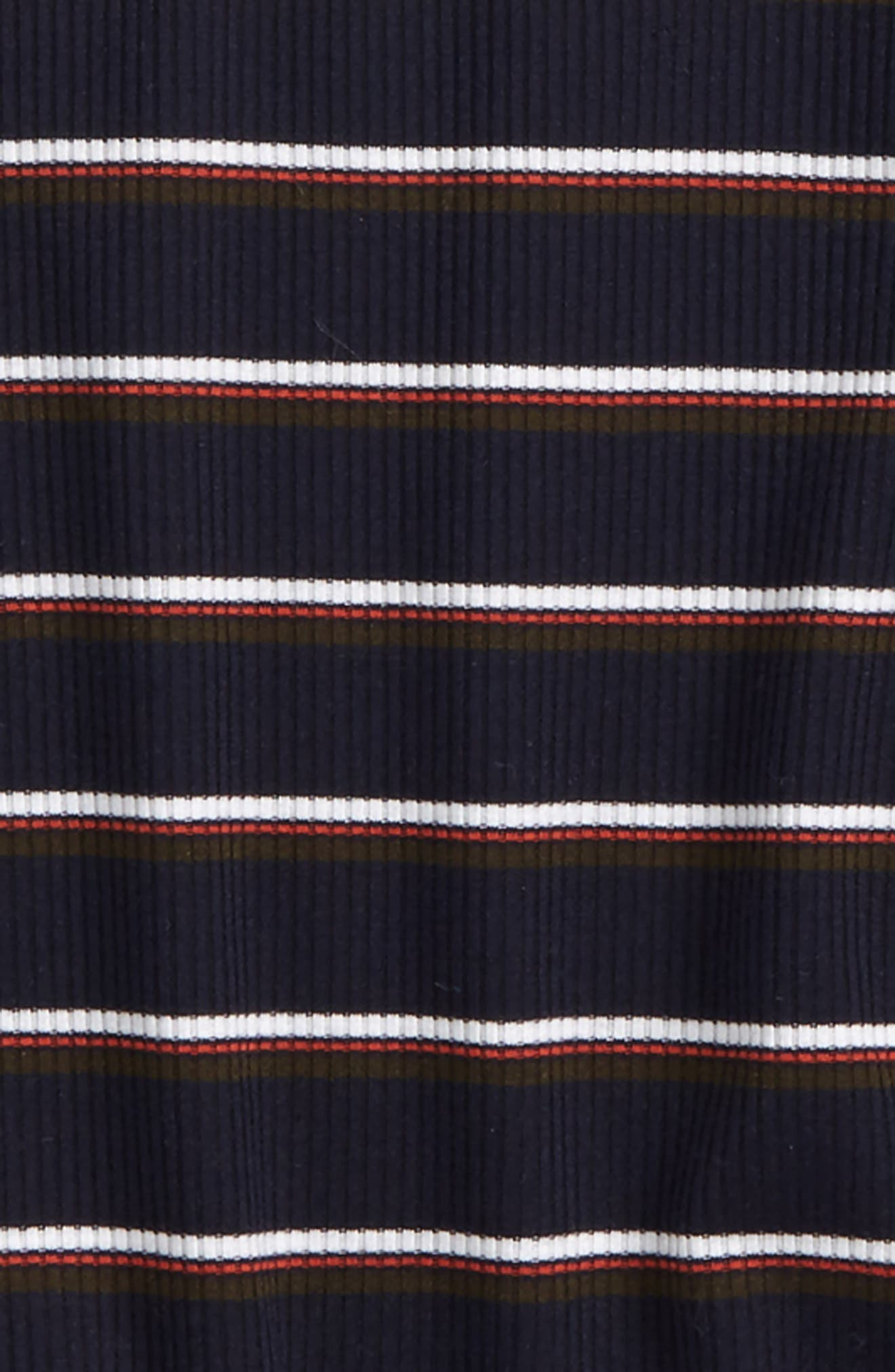 Ruffle Sleeve Stripe Top,                             Alternate thumbnail 2, color,