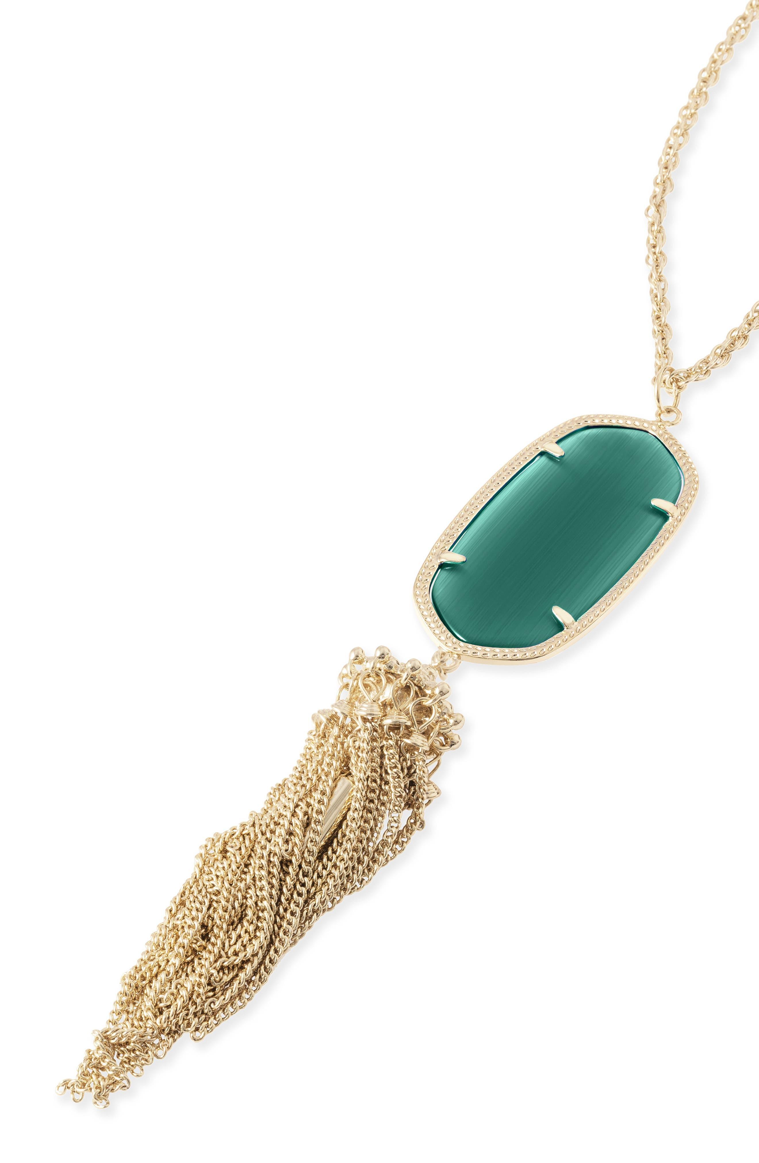 Rayne Stone Tassel Pendant Necklace,                             Alternate thumbnail 164, color,