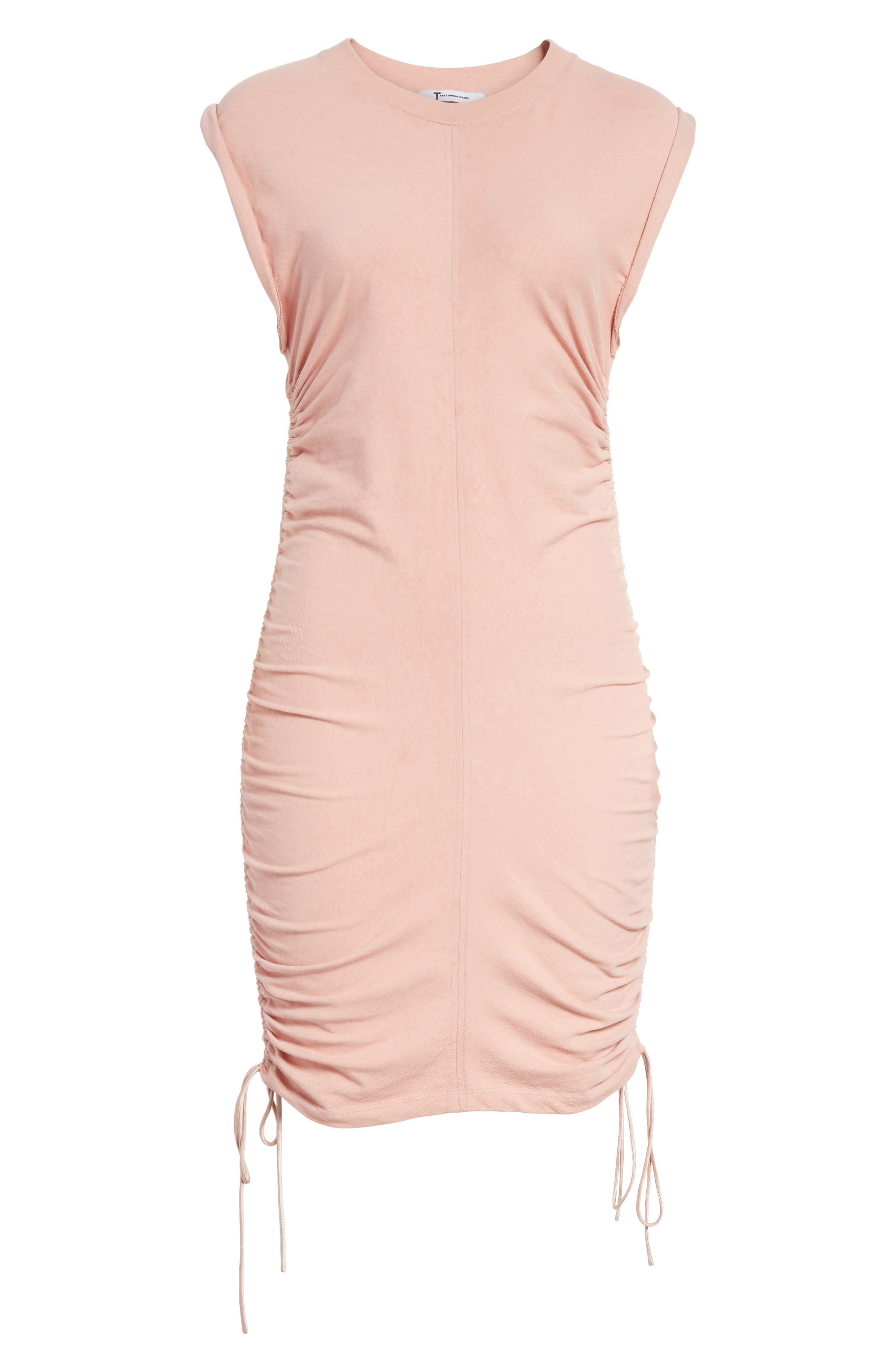 T by Alexander Wang Ruched Jersey Minidress,                             Alternate thumbnail 6, color,                             688
