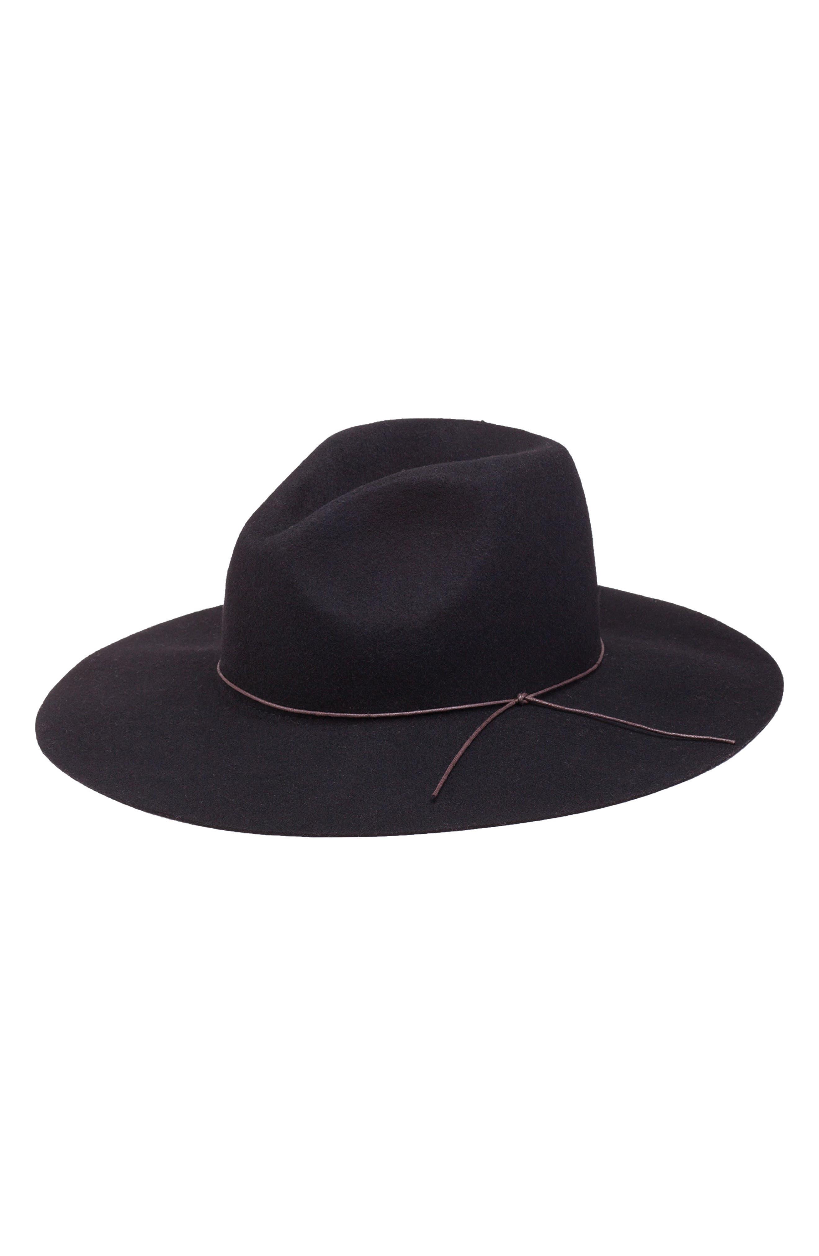 Zima Felted Wool Hat,                             Main thumbnail 1, color,                             BLACK