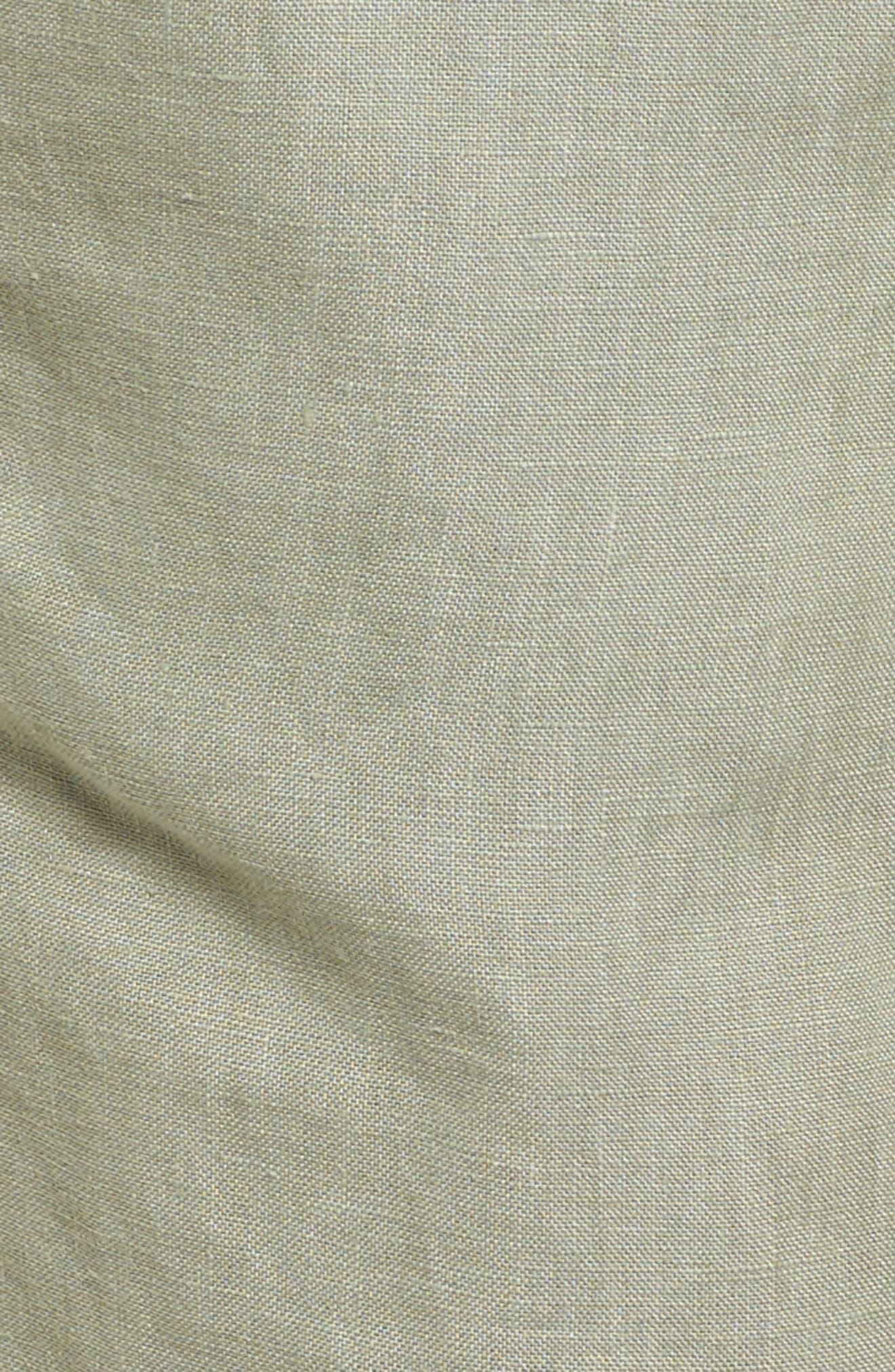 Linen Crop Pants,                             Alternate thumbnail 33, color,