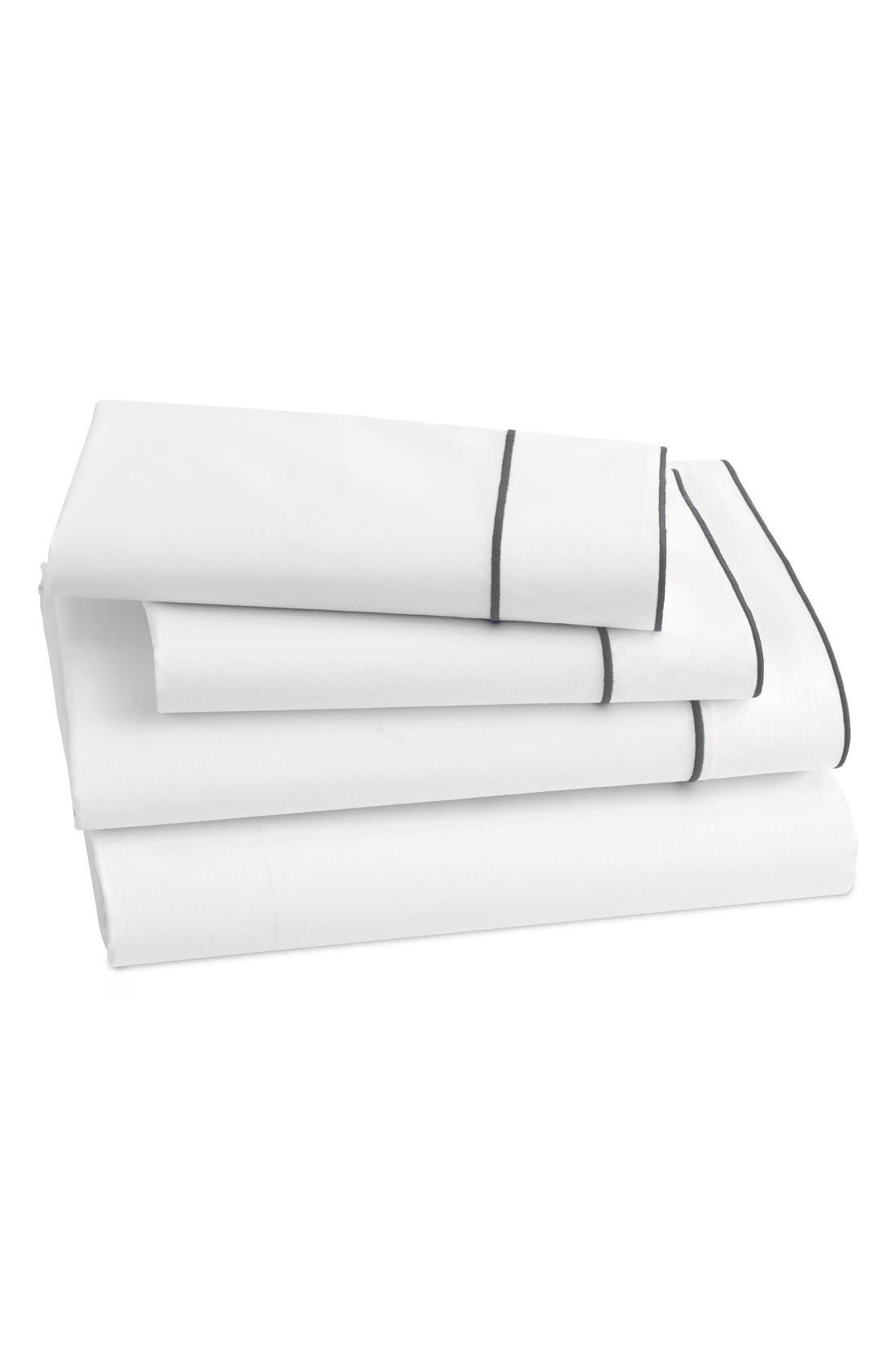 Sorrento 200 Thread Count Flat Sheet,                             Main thumbnail 1, color,