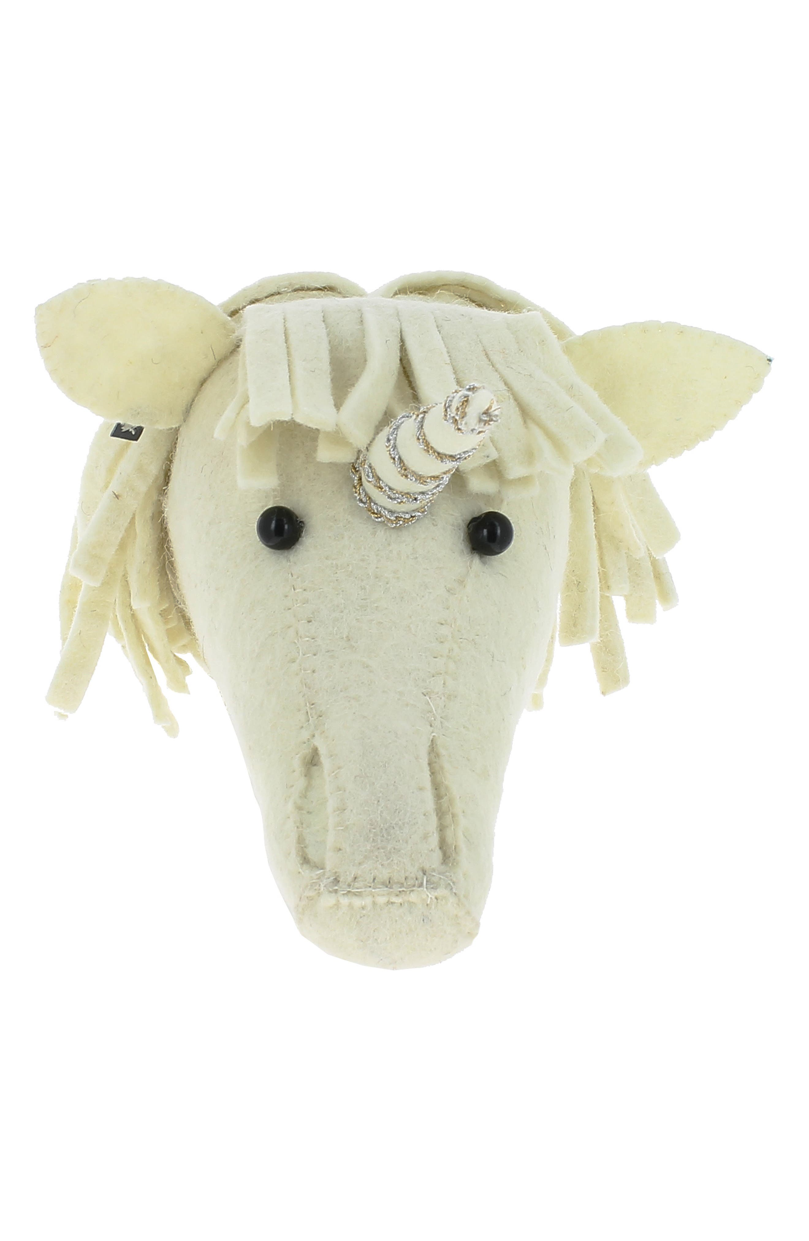 Fiona Walker Mini Unicorn Head Wall Art Size One Size  Ivory