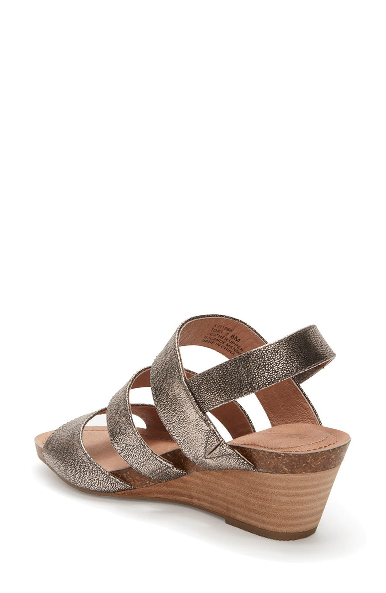 Adam Tucker Tora Wedge Sandal,                             Alternate thumbnail 4, color,
