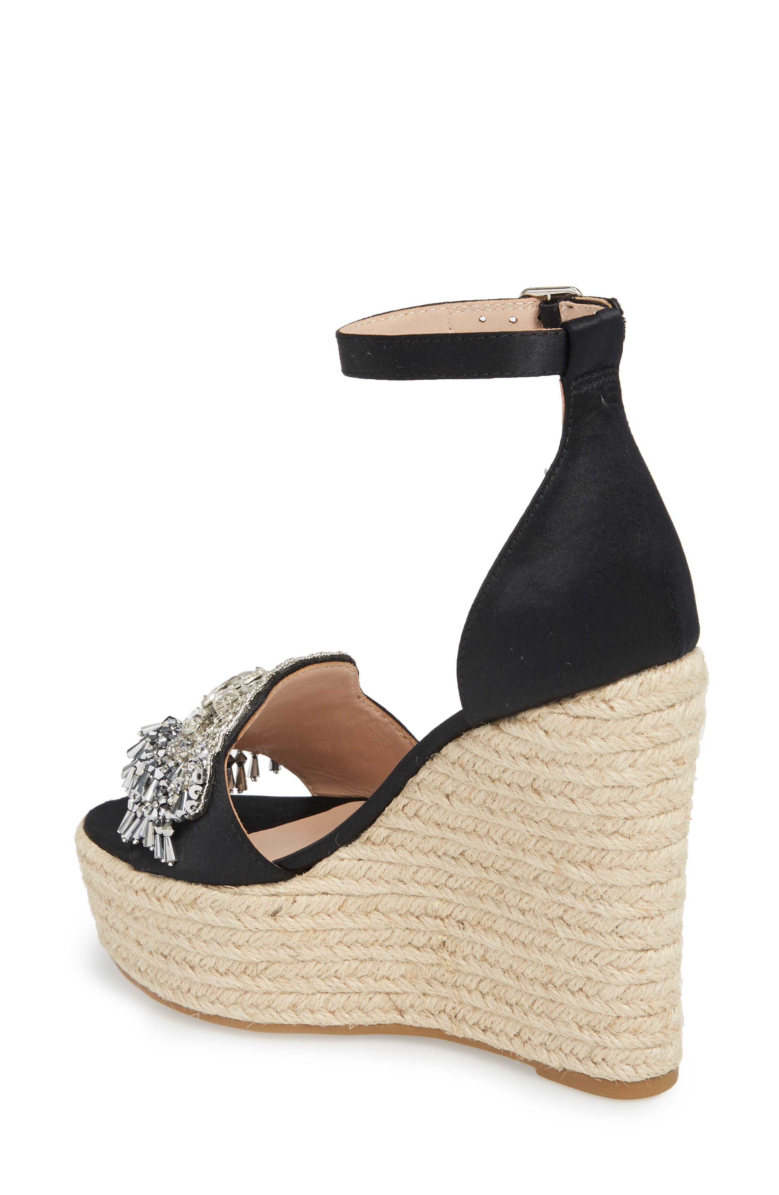Maxim Platform Wedge Sandal,                             Alternate thumbnail 4, color,
