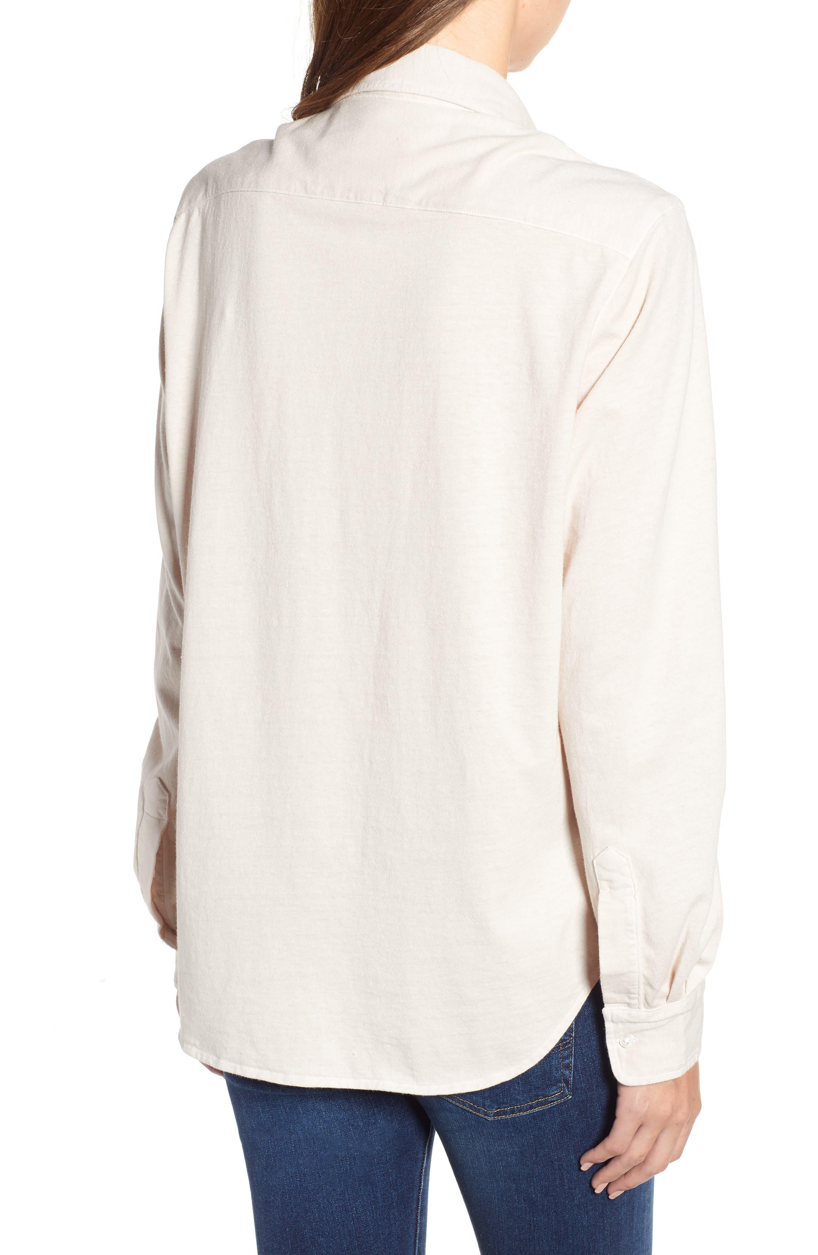 Eileen Jersey Button Front Shirt,                             Alternate thumbnail 2, color,                             NO FILTER