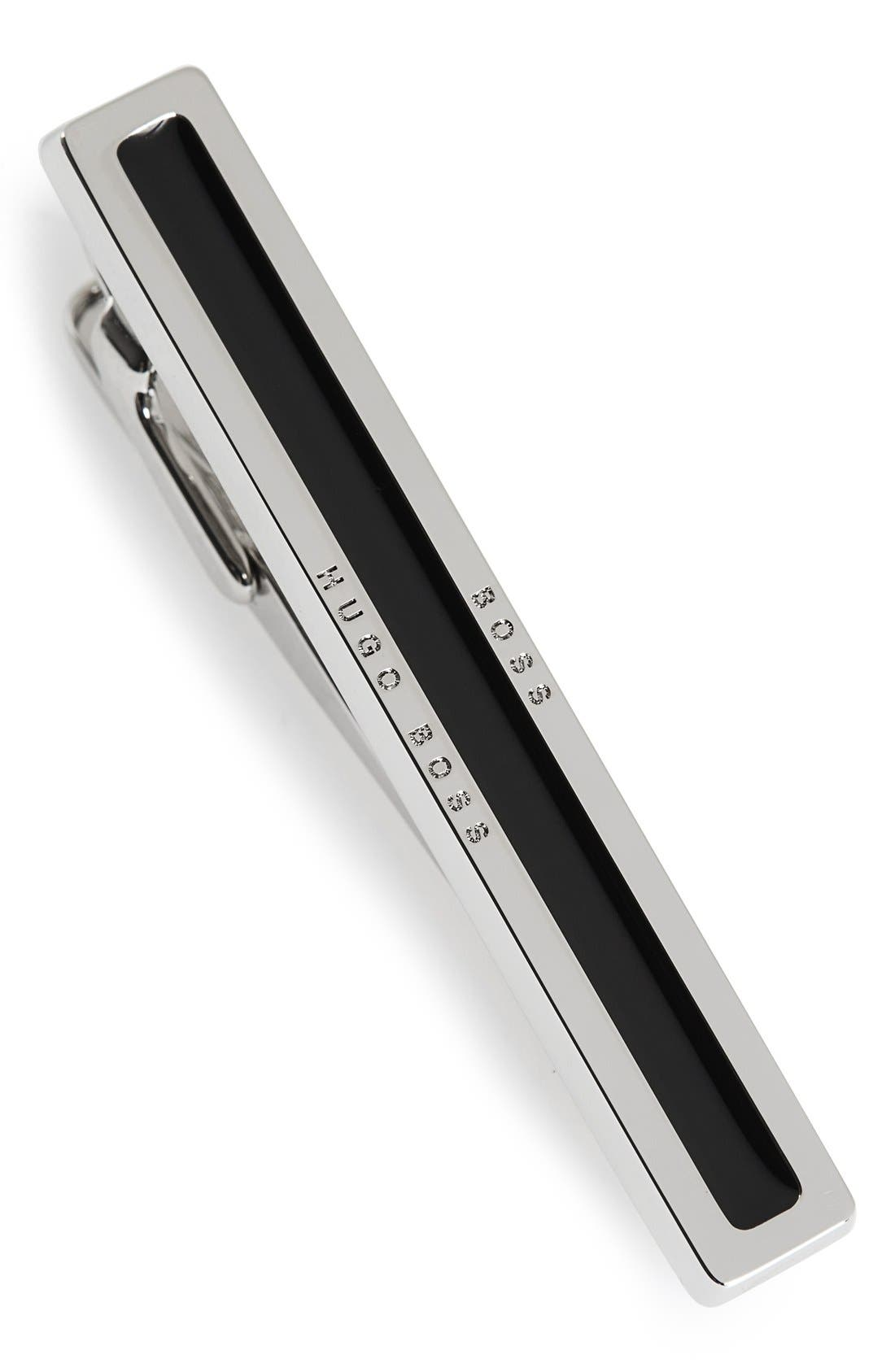 'Tim' Tie Bar,                             Main thumbnail 1, color,                             BLACK