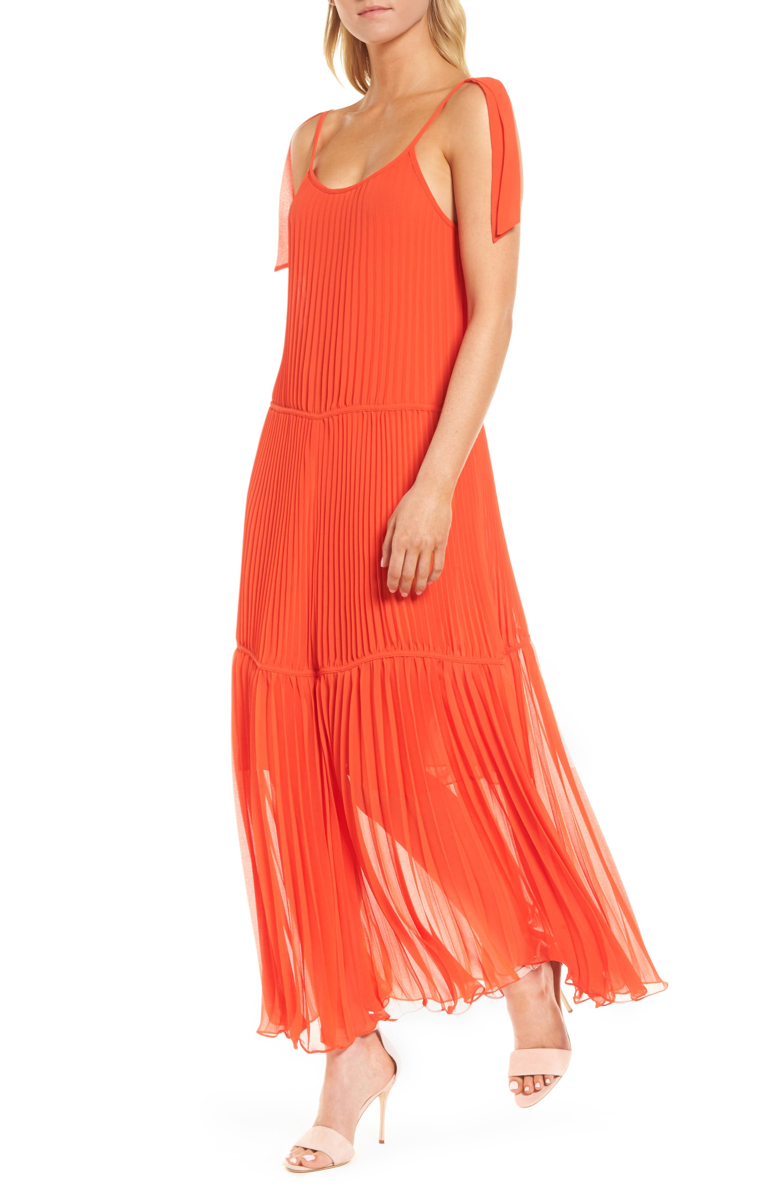 Chiffon Maxi Dress,                             Main thumbnail 3, color,