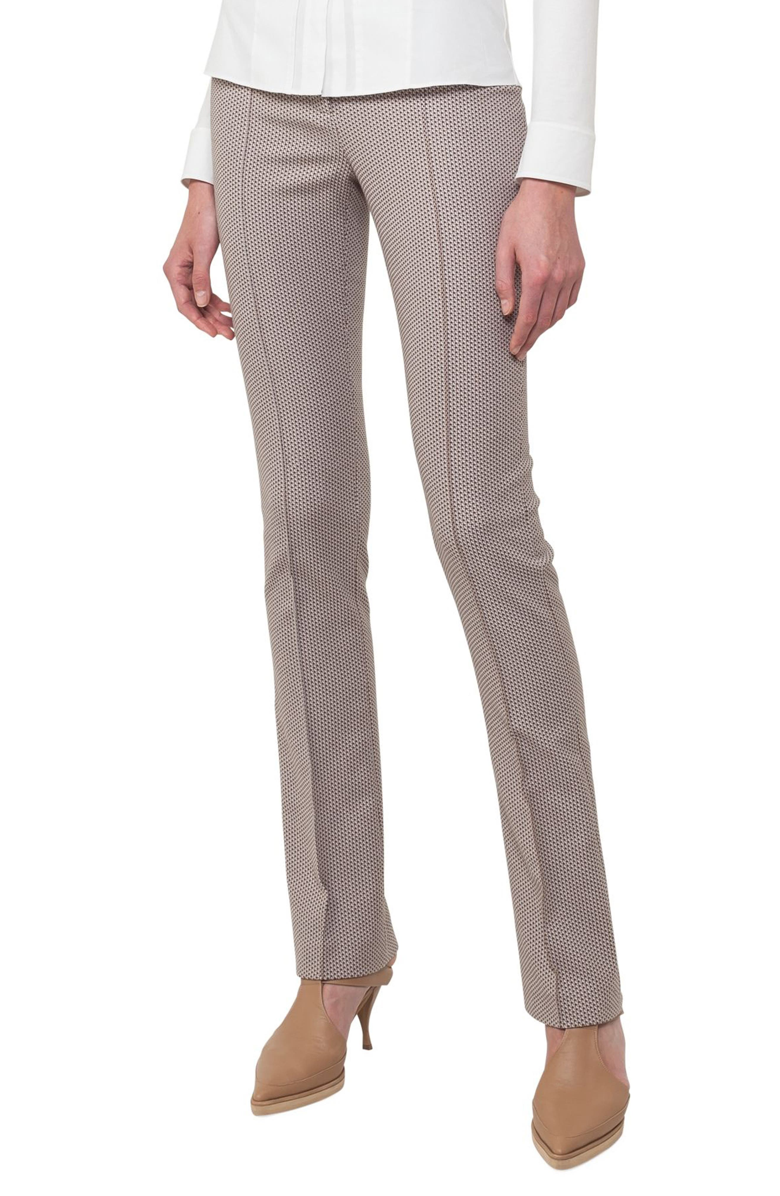 Claire Stretch Cotton Pants,                             Alternate thumbnail 3, color,                             250