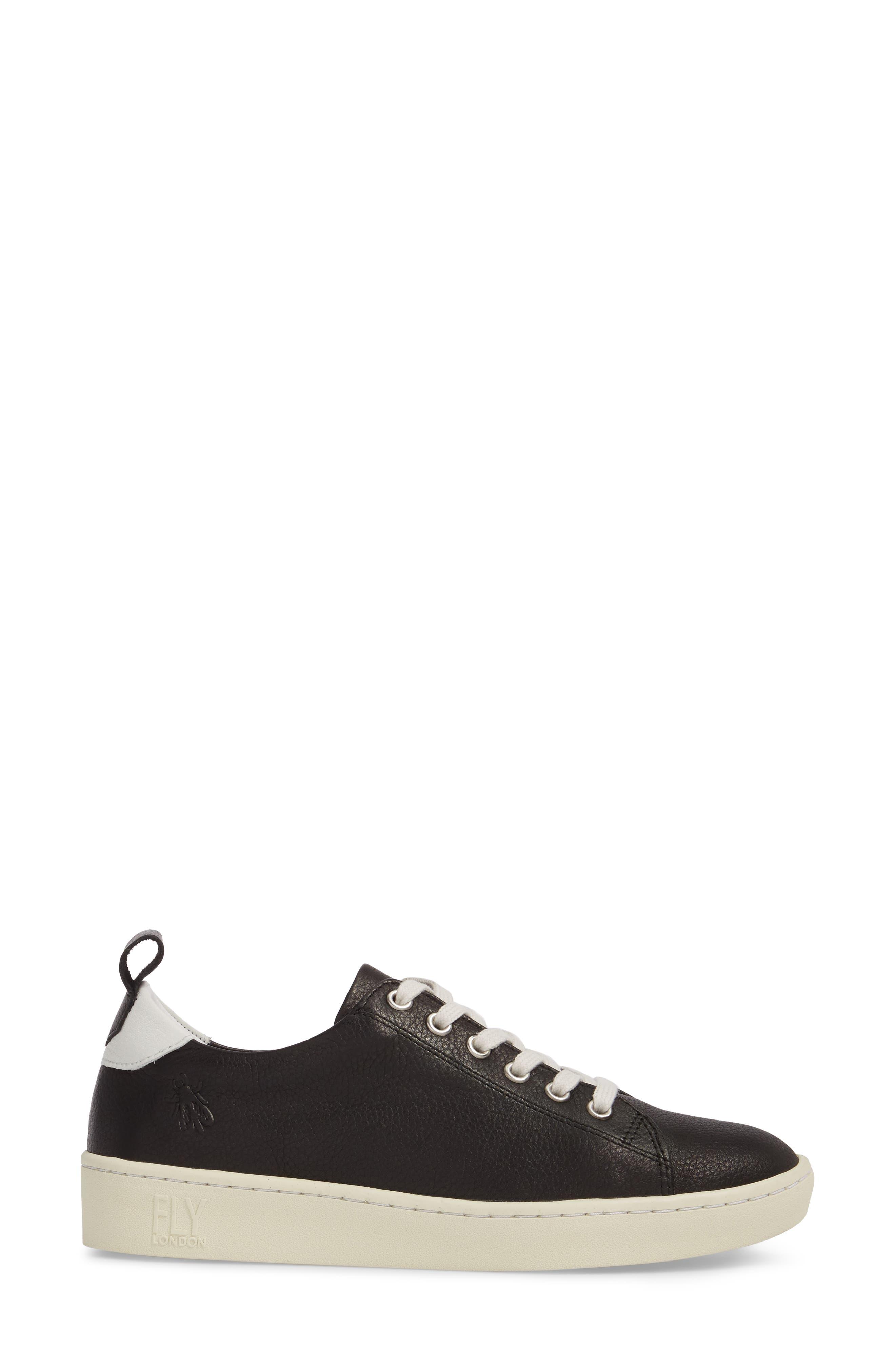 Maku Lace-Up Sneaker,                             Alternate thumbnail 3, color,                             BLACK BRITO LEATHER