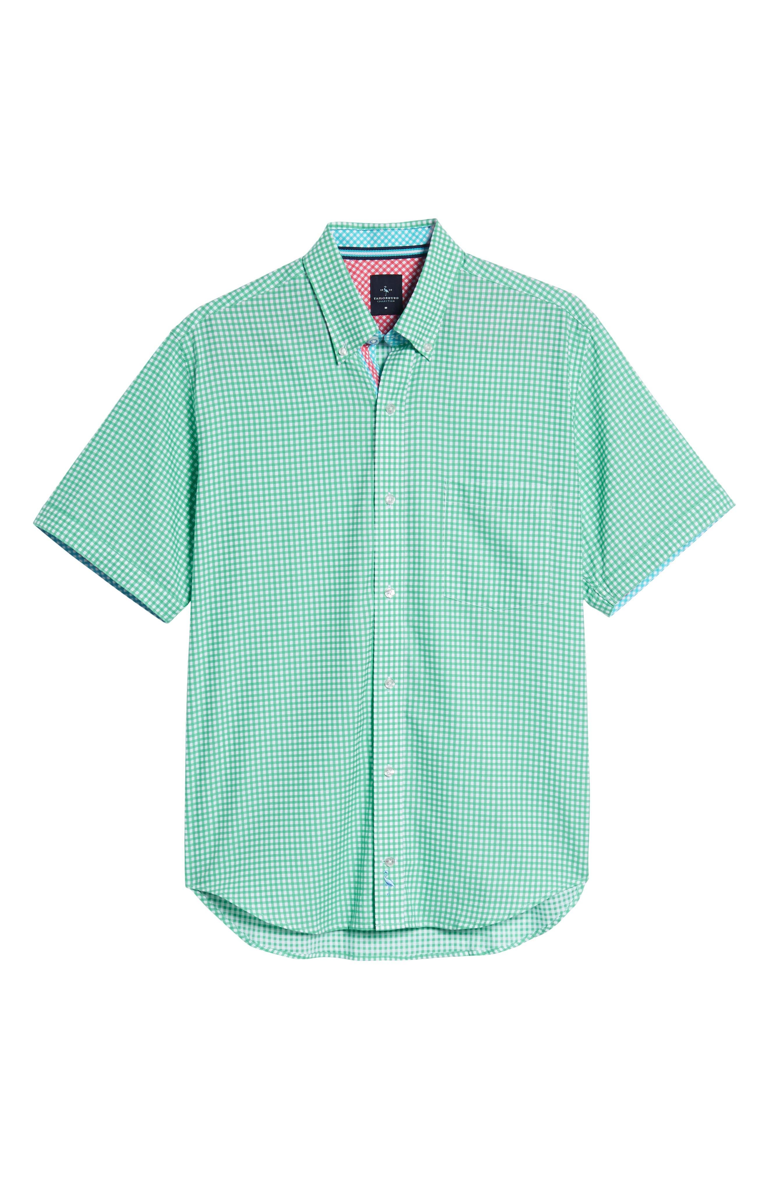 Arlo Regular Fit Check Sport Shirt,                             Alternate thumbnail 6, color,                             300