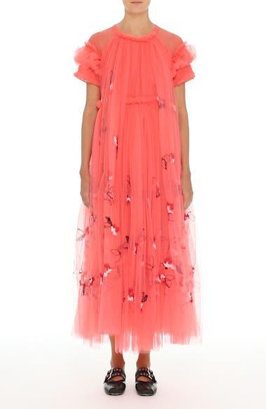 Doris Embroidered Tulle Dress, video thumbnail