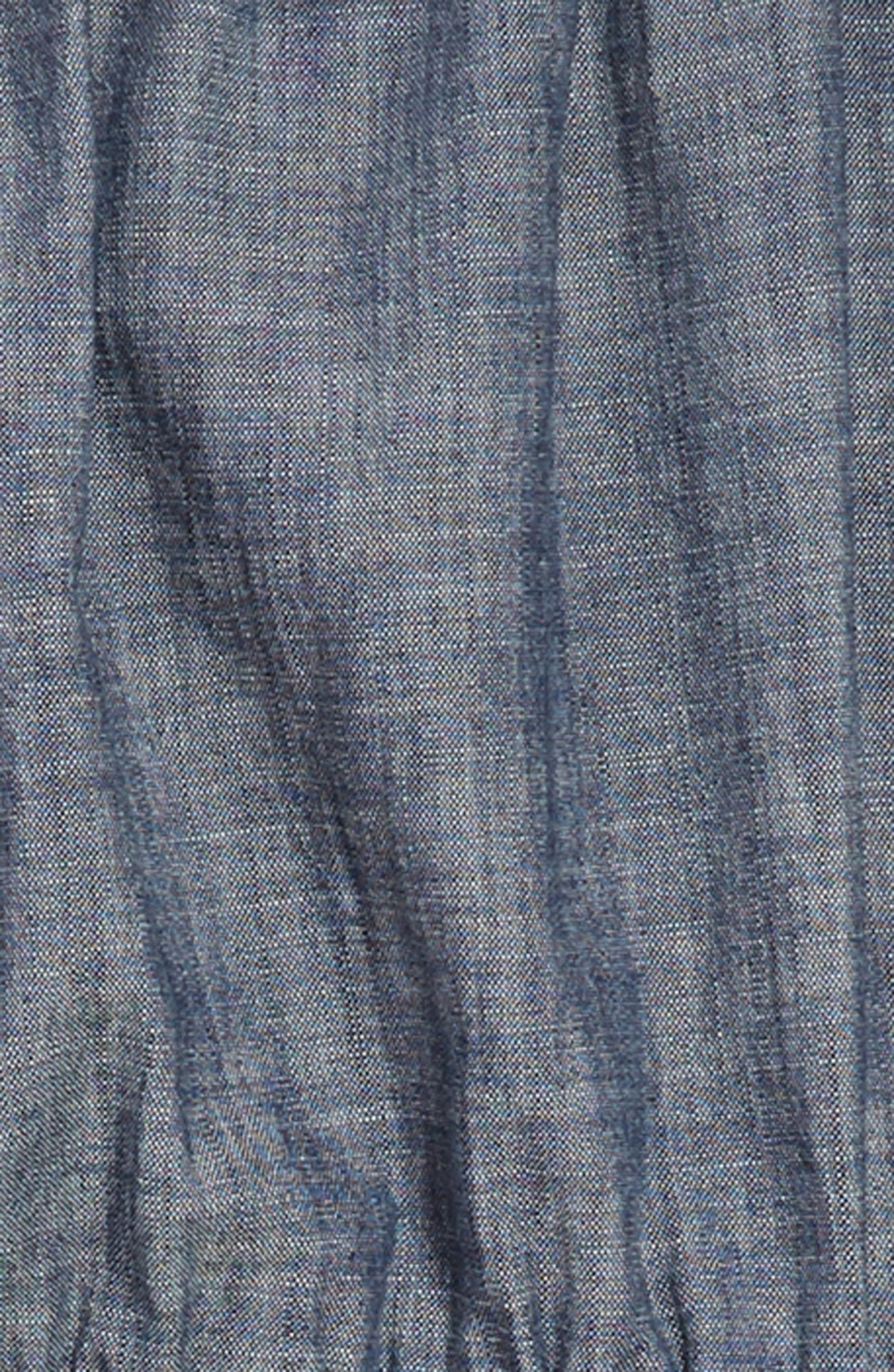 Wes Chambray Dress,                             Alternate thumbnail 3, color,                             400