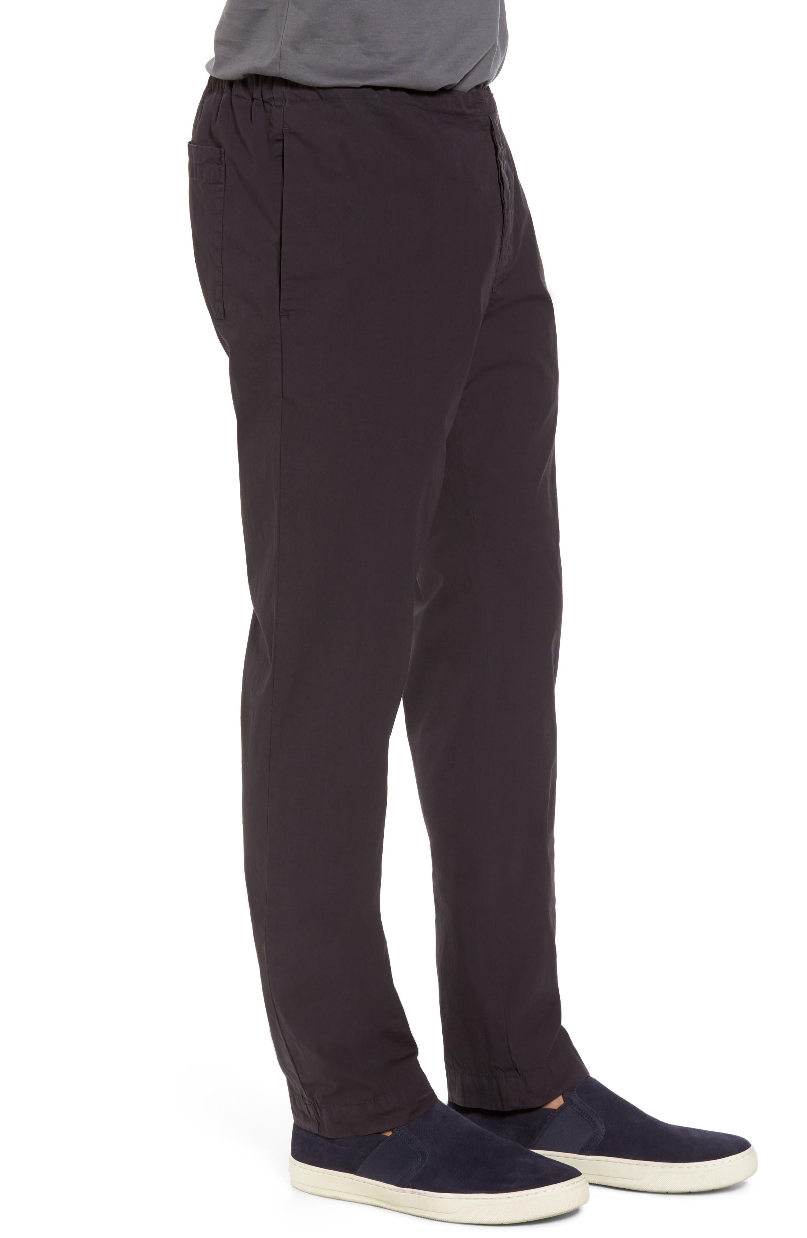 Slim Stretch Poplin Drawcord Pants,                             Alternate thumbnail 3, color,                             001