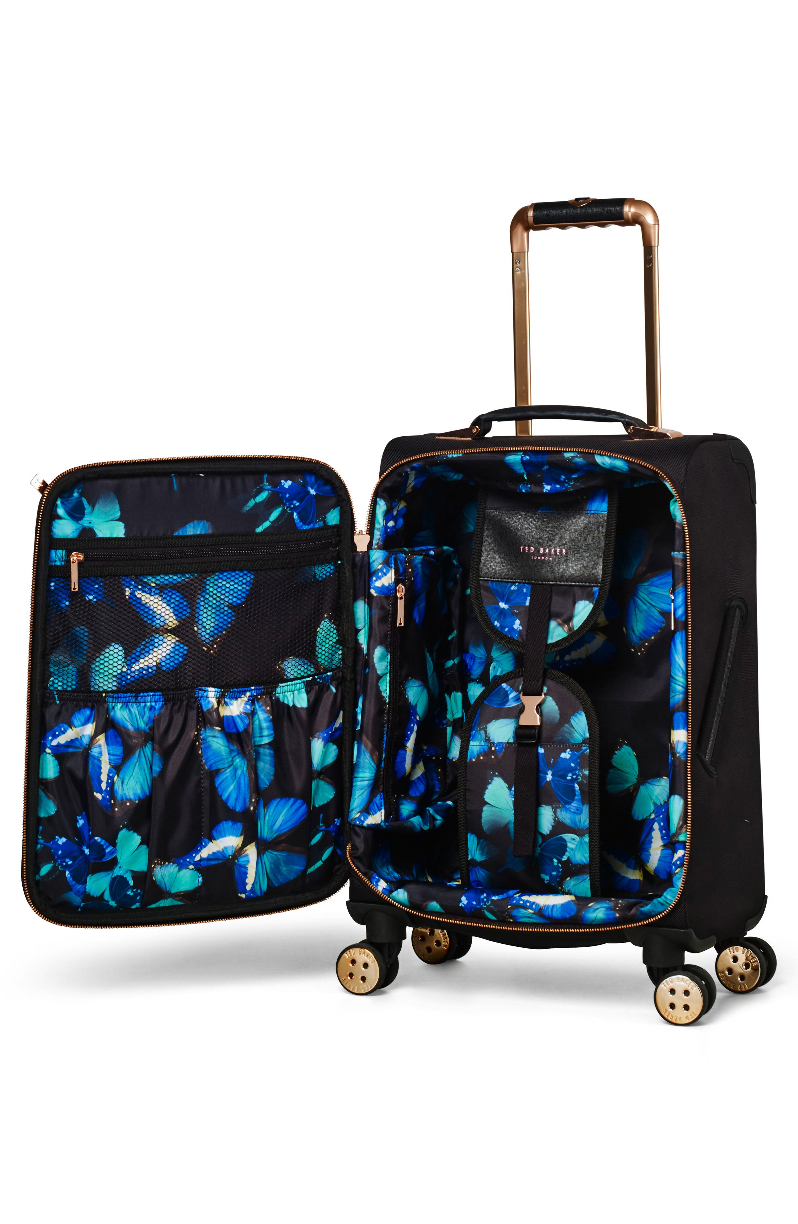 22-Inch Trolley Packing Case,                             Alternate thumbnail 4, color,                             BLACK