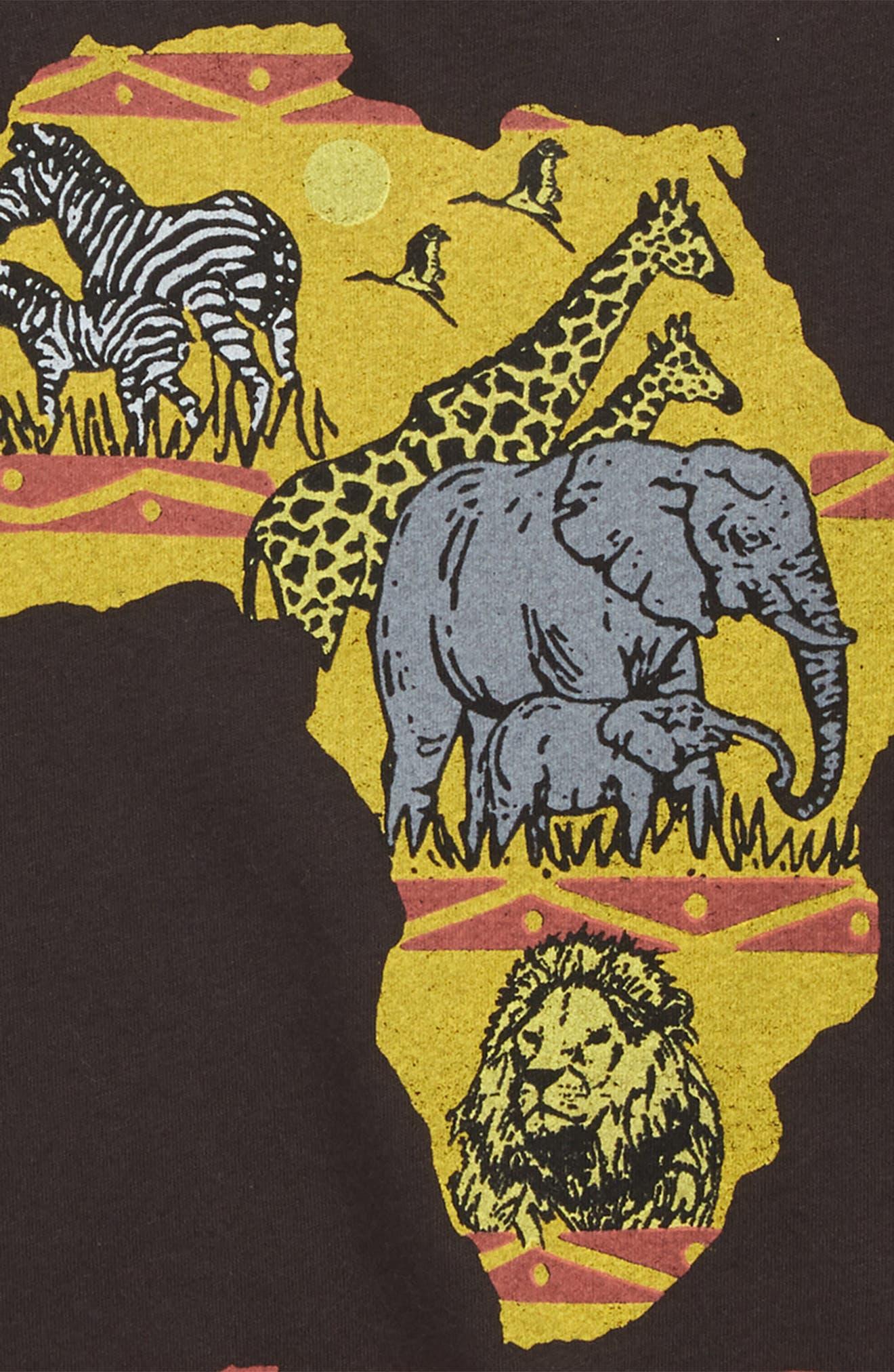 Peek Africa Graphic T-Shirt,                             Alternate thumbnail 3, color,                             001