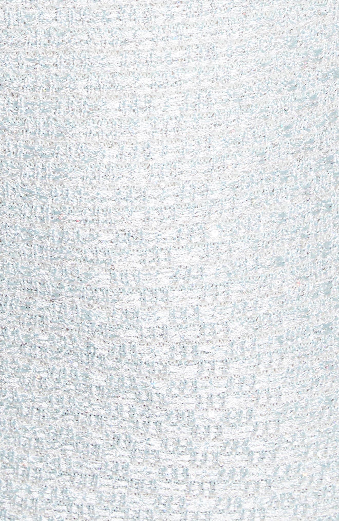 Hansh Sequin Knit Off the Shoulder Gown,                             Alternate thumbnail 6, color,                             MINT