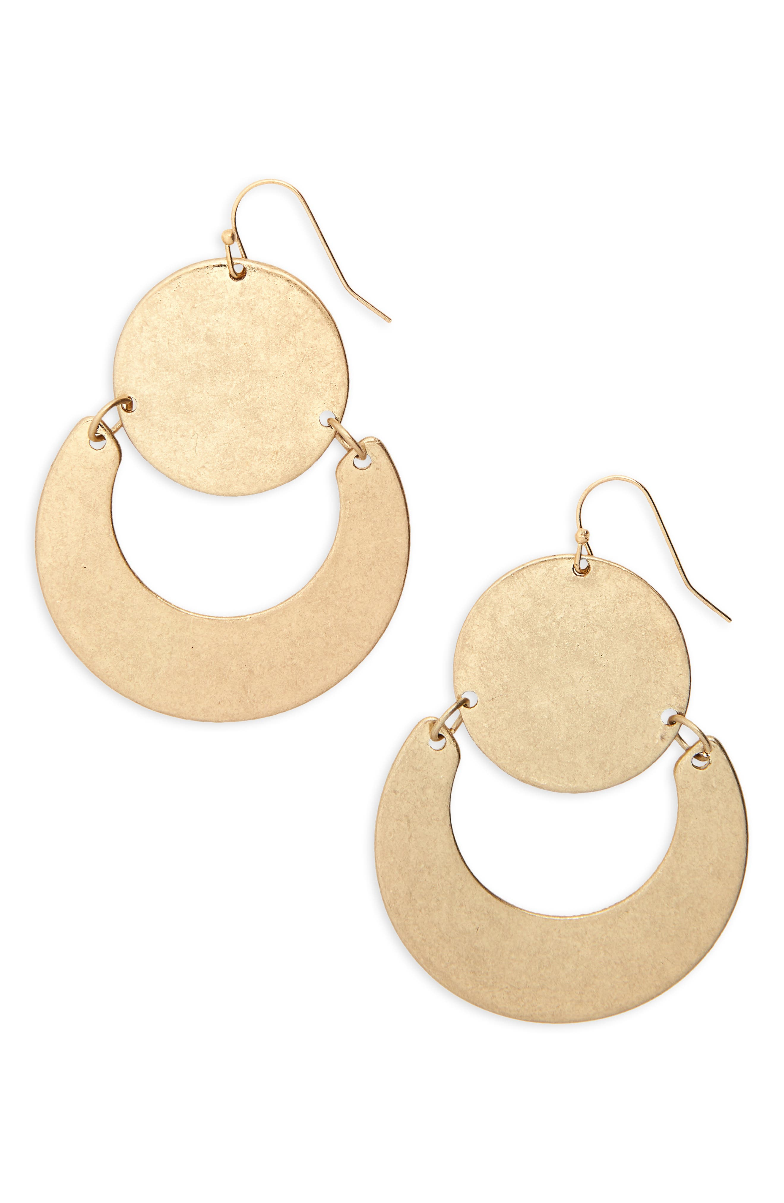 Circle U Earrings,                             Main thumbnail 1, color,                             710