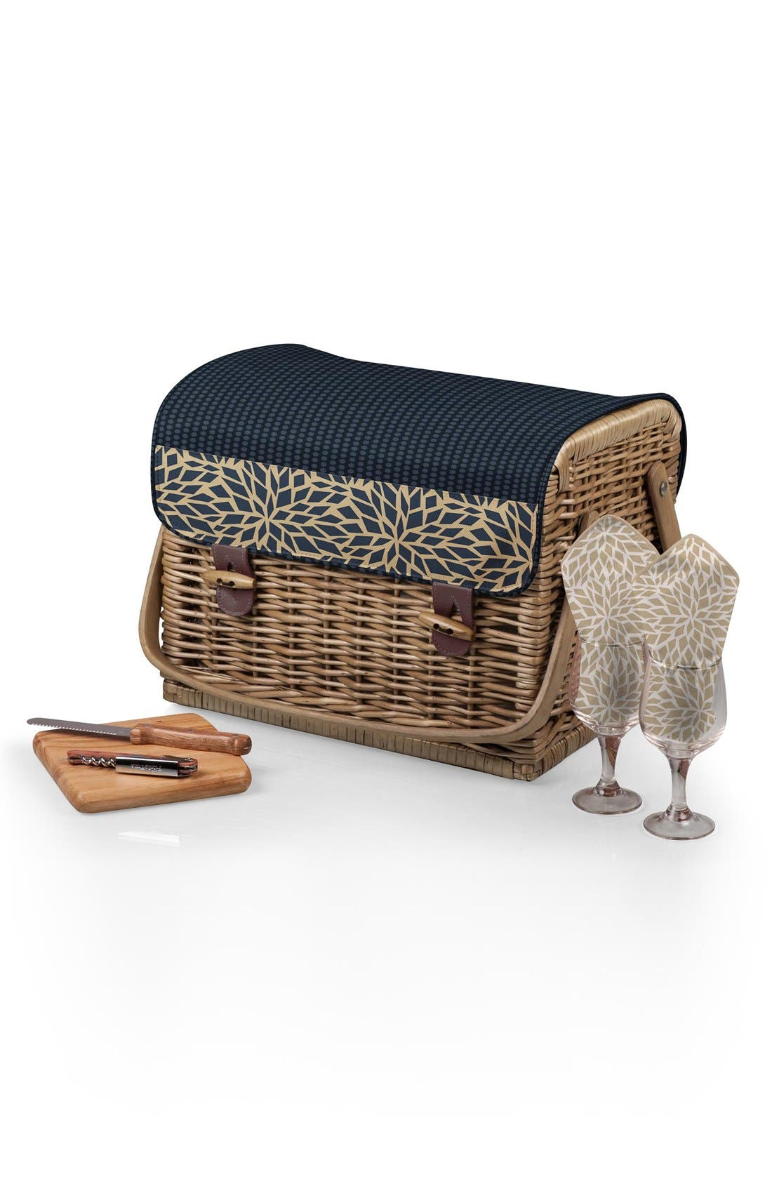 Picnic Time 'Kabrio' Wine & Cheese Picnic Basket,                             Alternate thumbnail 4, color,                             400