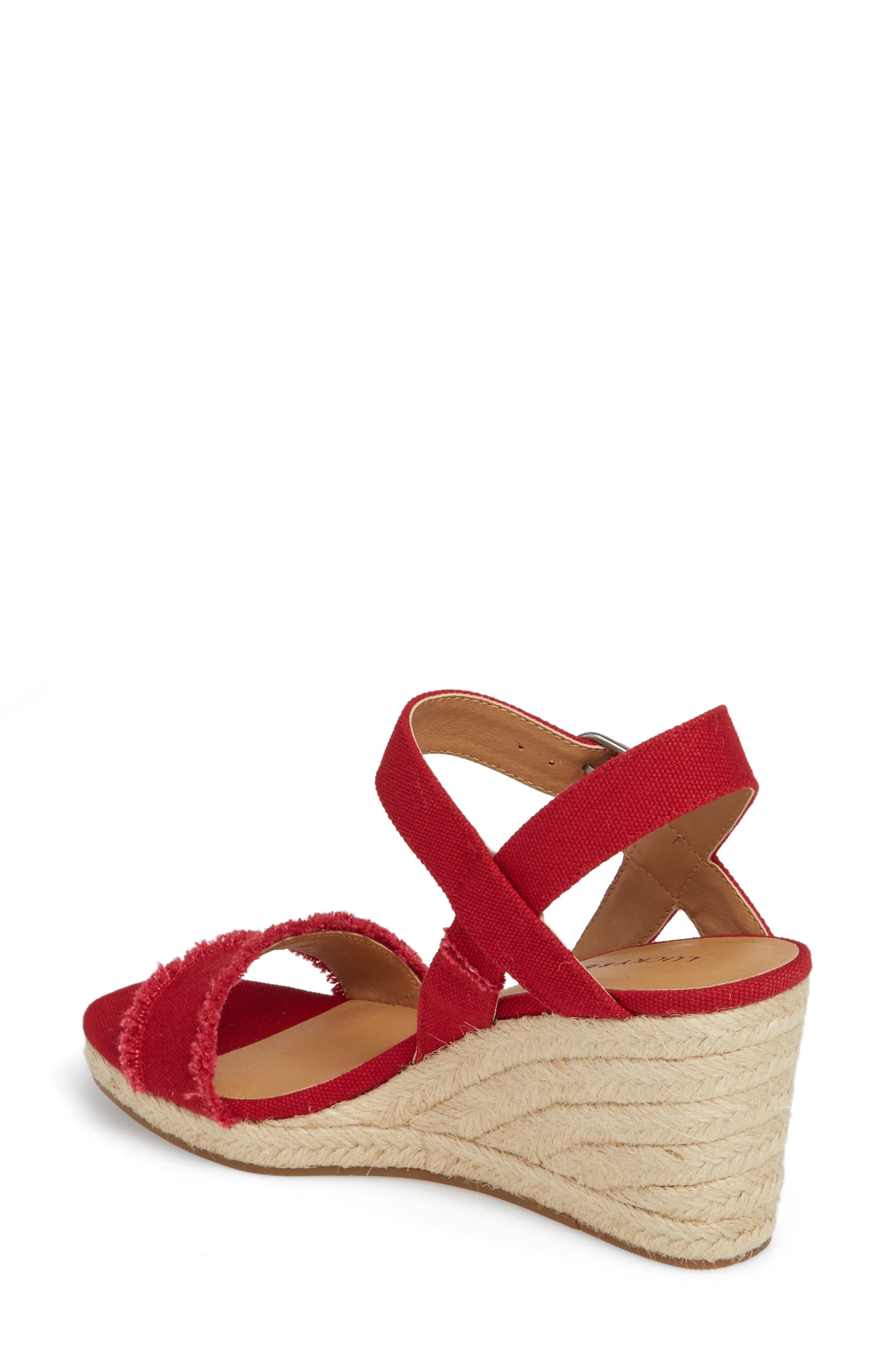 Marceline Squared Toe Wedge Sandal,                             Alternate thumbnail 14, color,