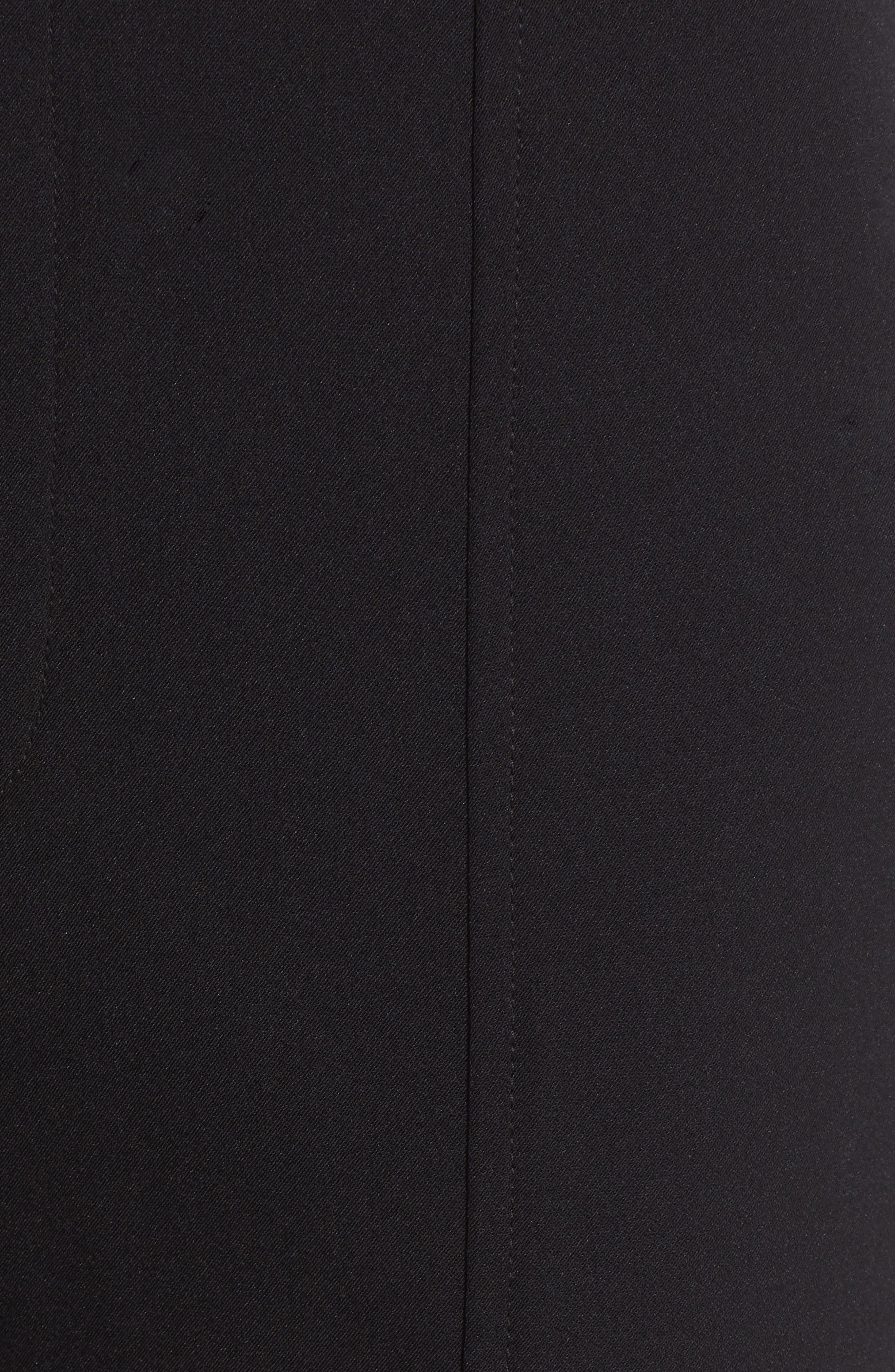 Skinny Slit Hem Pants,                             Alternate thumbnail 6, color,                             BLACK