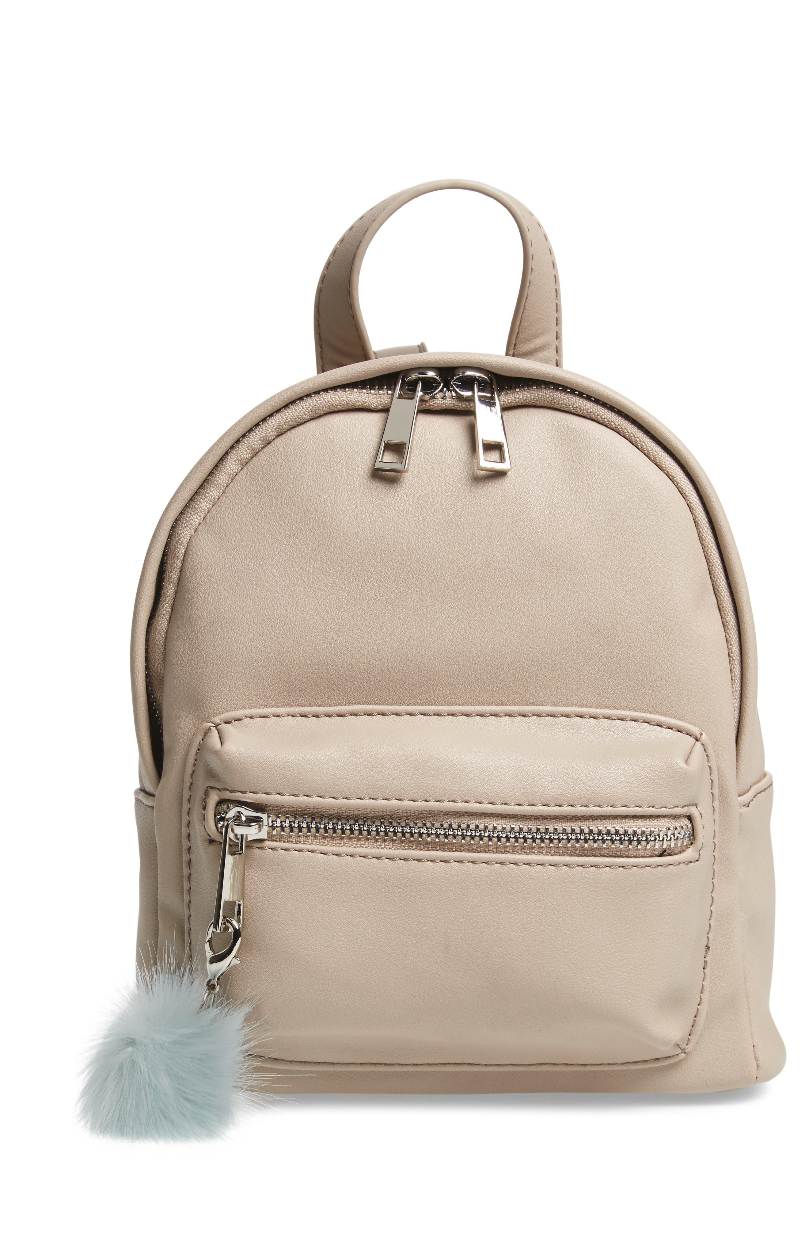 Faux Leather Mini Backpack,                             Main thumbnail 7, color,