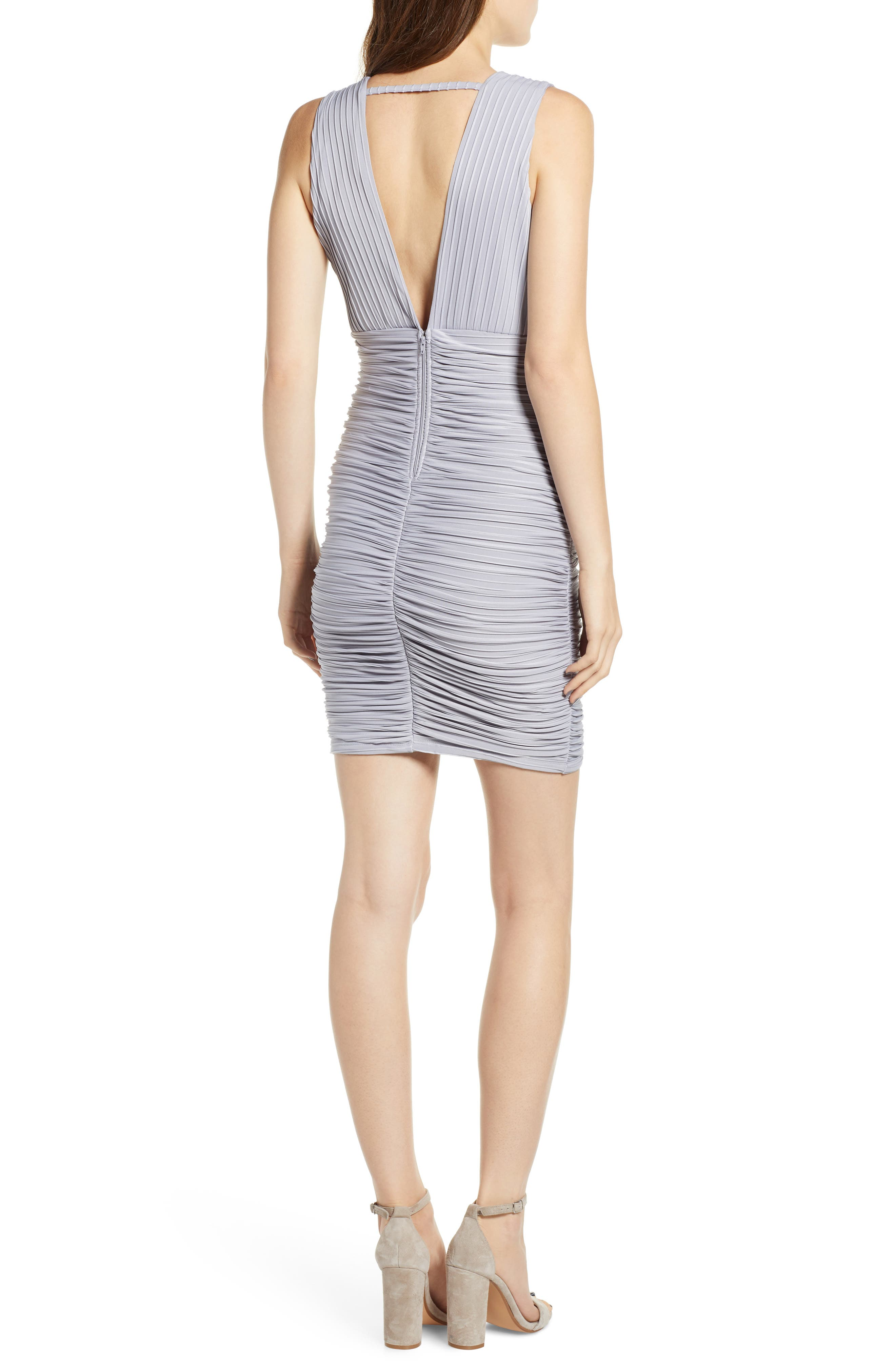 Ribbed Body-Con Dress,                             Alternate thumbnail 2, color,                             020