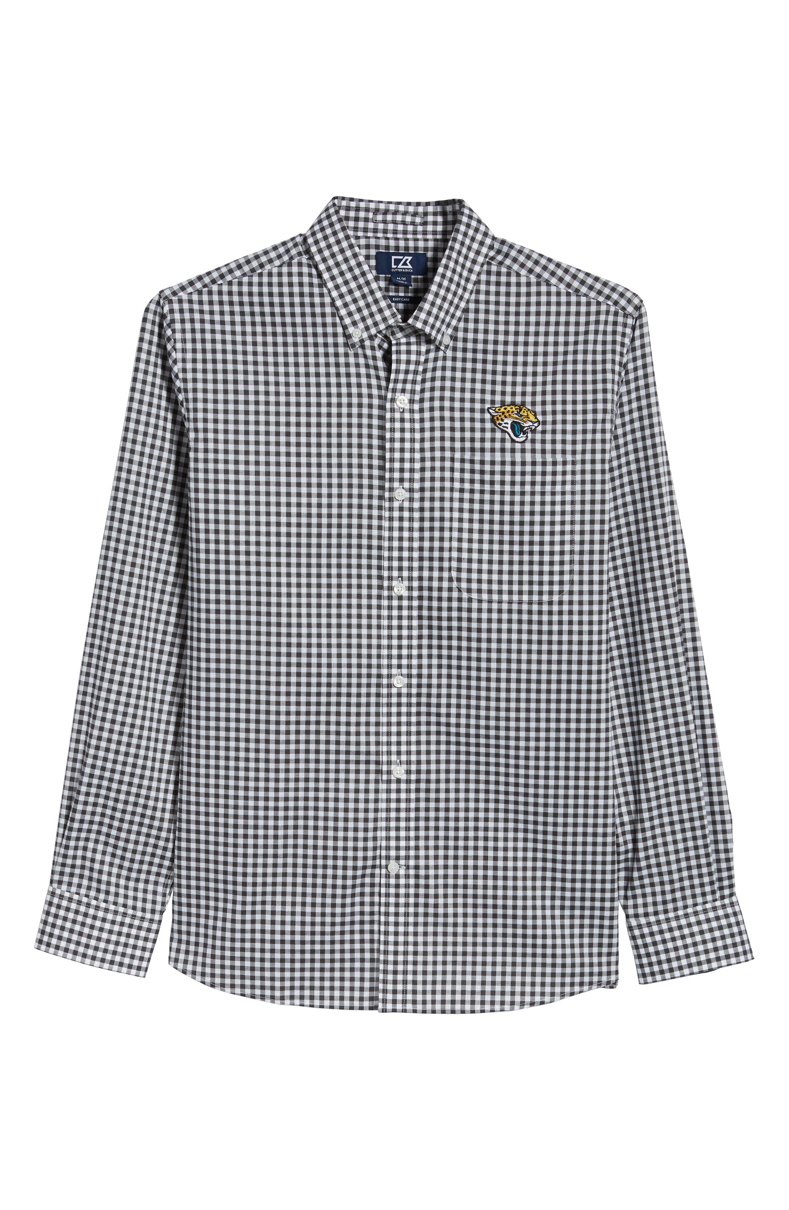 League Jacksonville Jaguars Regular Fit Shirt,                             Alternate thumbnail 6, color,                             CHARCOAL