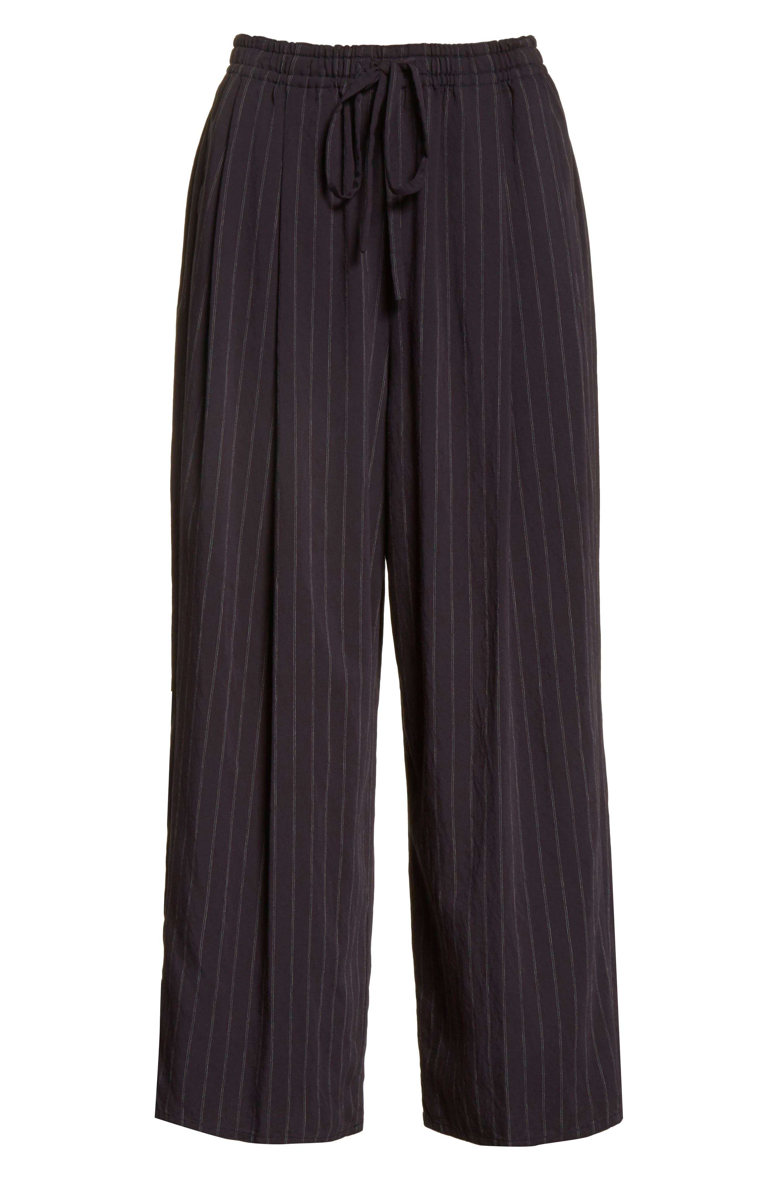 Striped Drawstring Cropped Pants,                             Alternate thumbnail 6, color,                             403