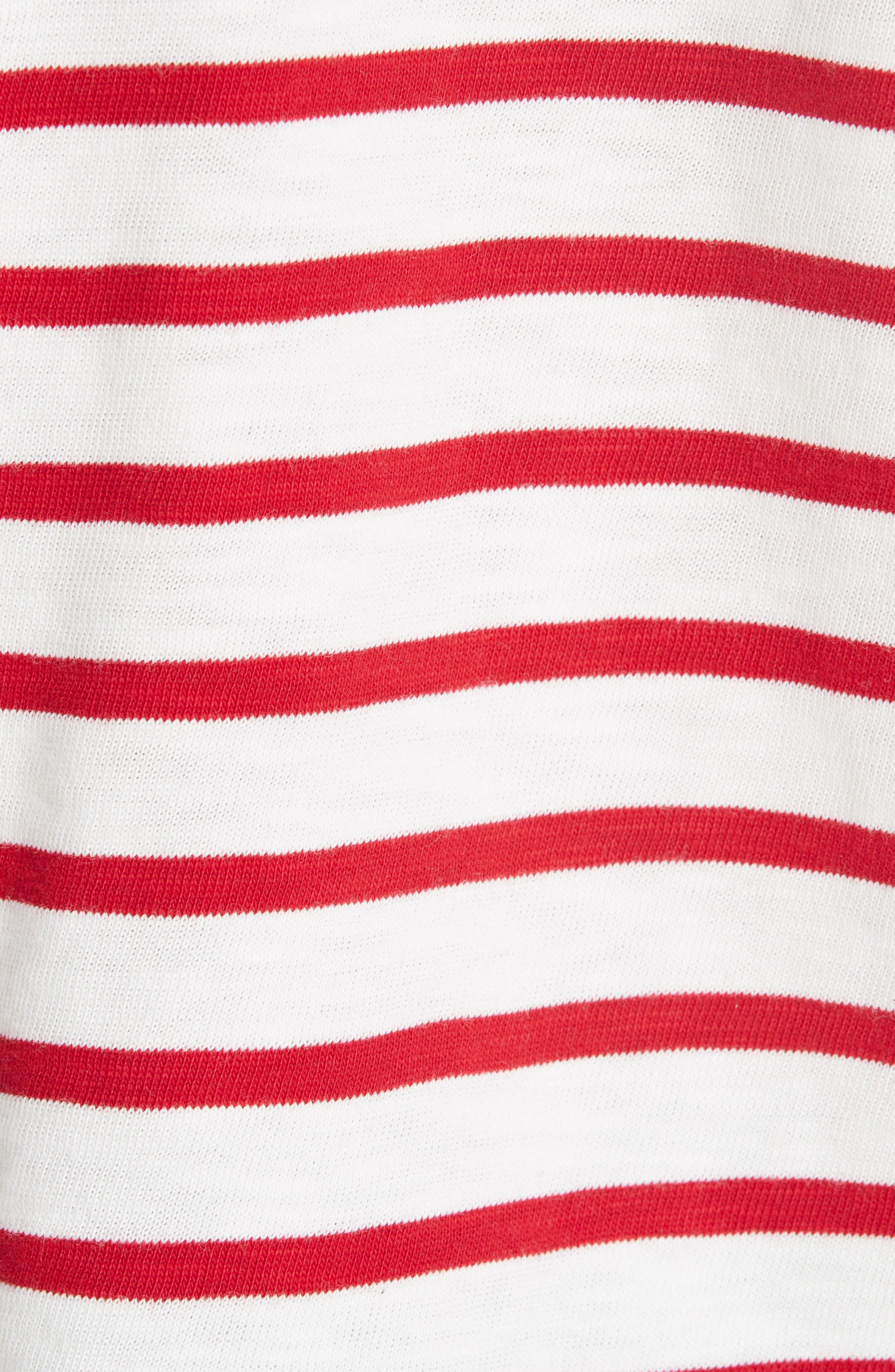rag & bone Halsey Stripe Tee,                             Alternate thumbnail 5, color,                             603