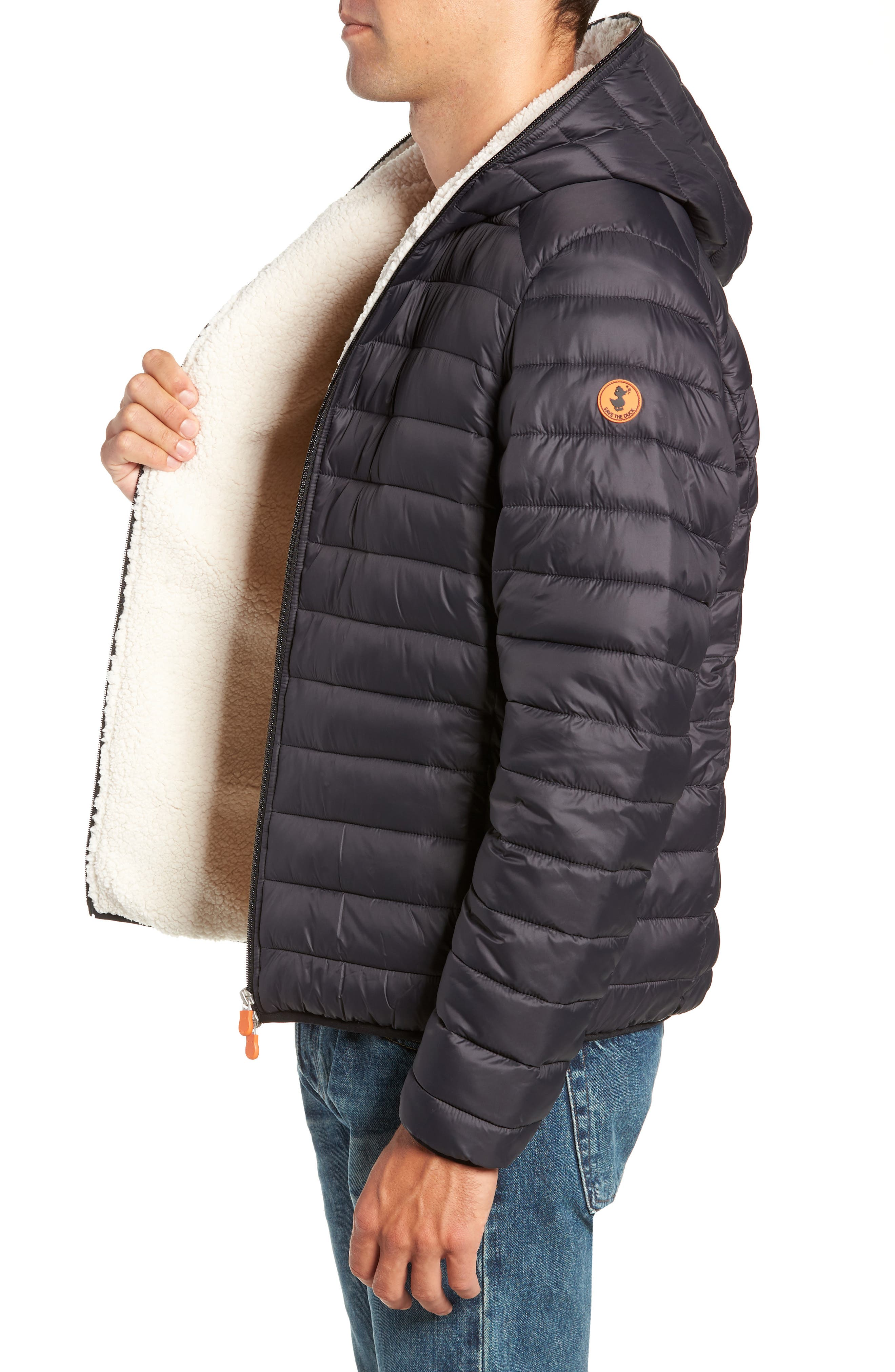 Hooded PLUMTECH<sup>®</sup> Insulated Packable Jacket,                             Alternate thumbnail 3, color,                             001