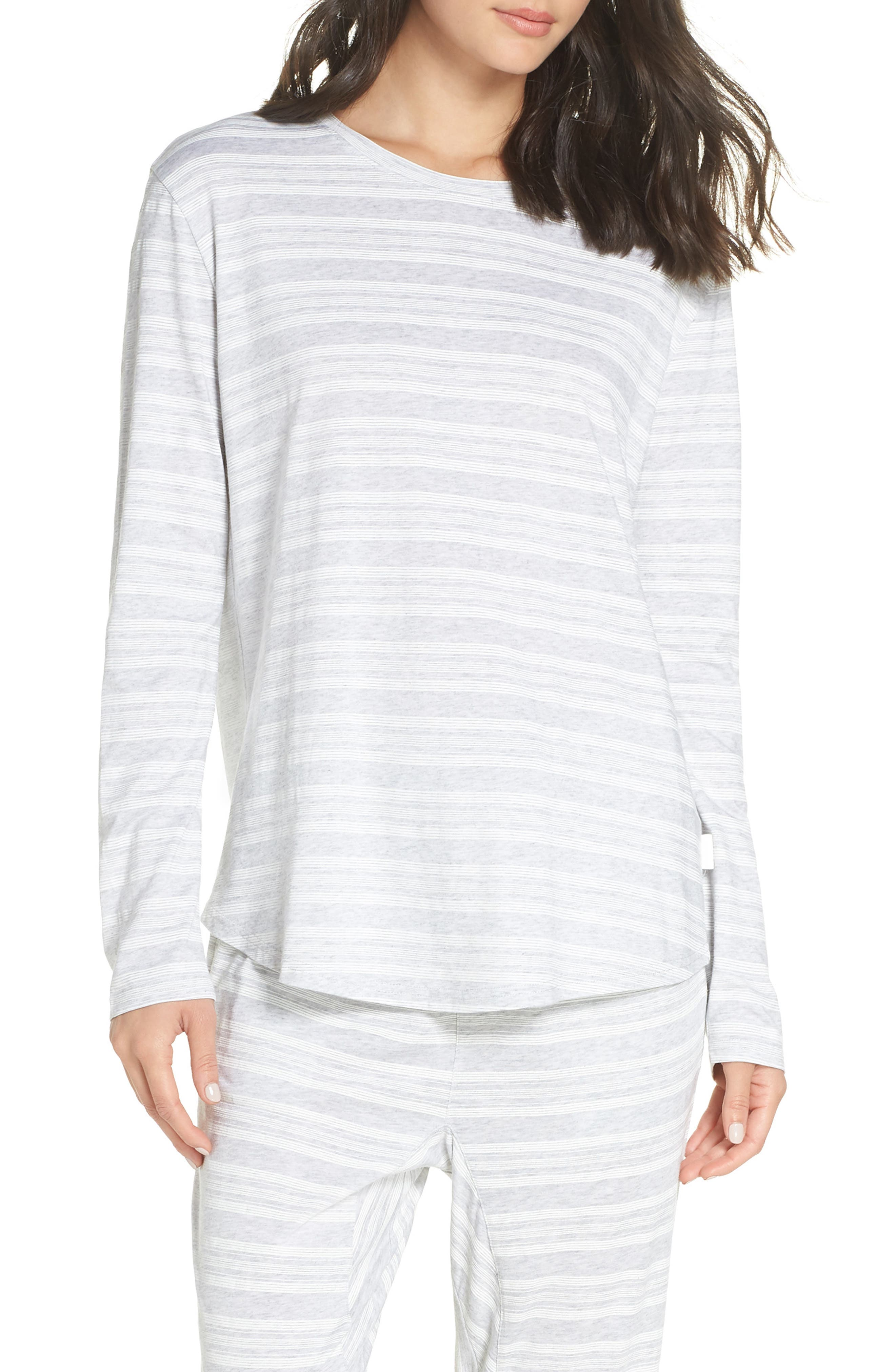 CHALMERS,                             Issy Pajama Top,                             Main thumbnail 1, color,                             LOLLY STRIPE WHITE
