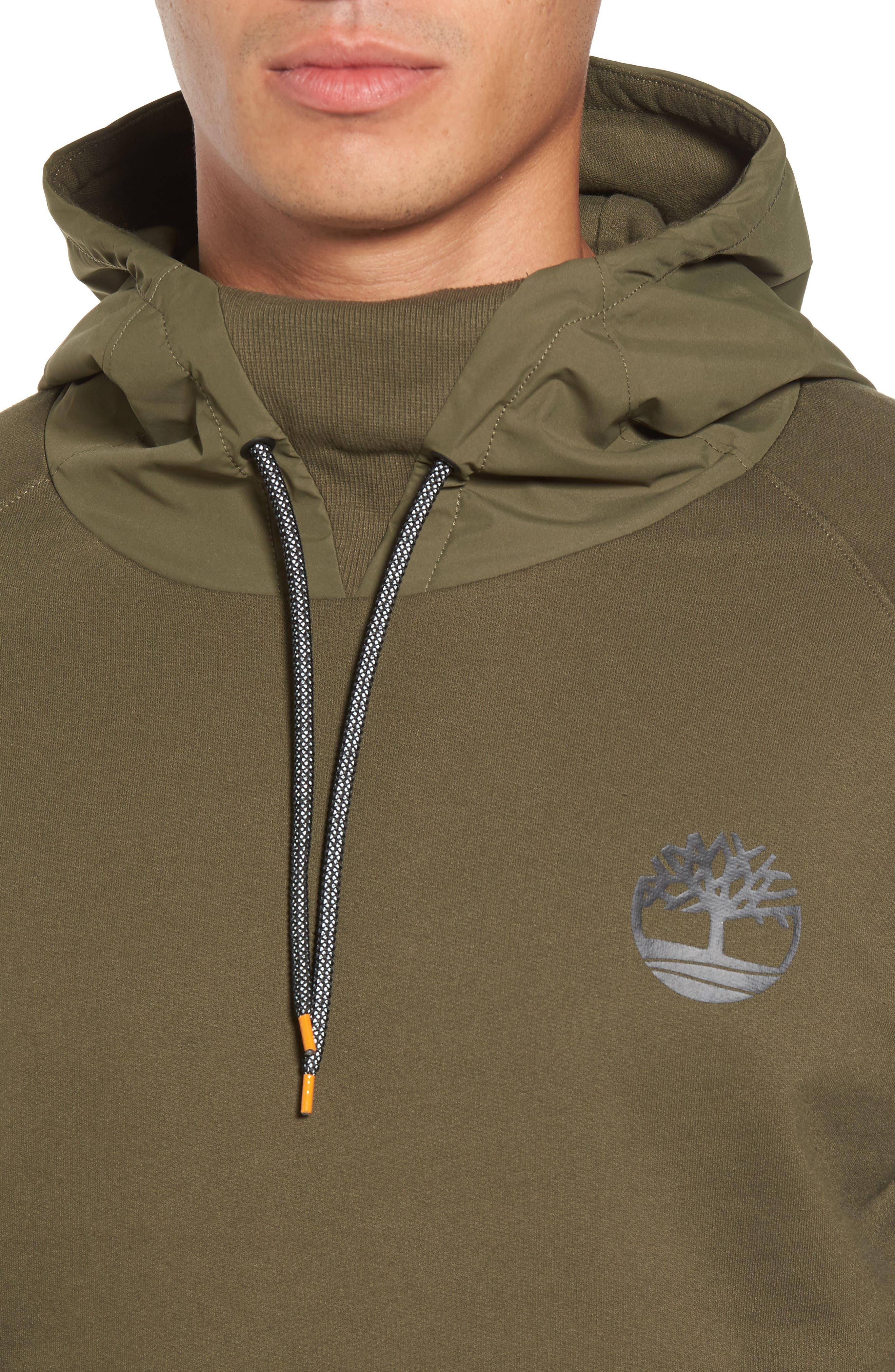 Mixed Media Oversize Hoodie,                             Alternate thumbnail 8, color,
