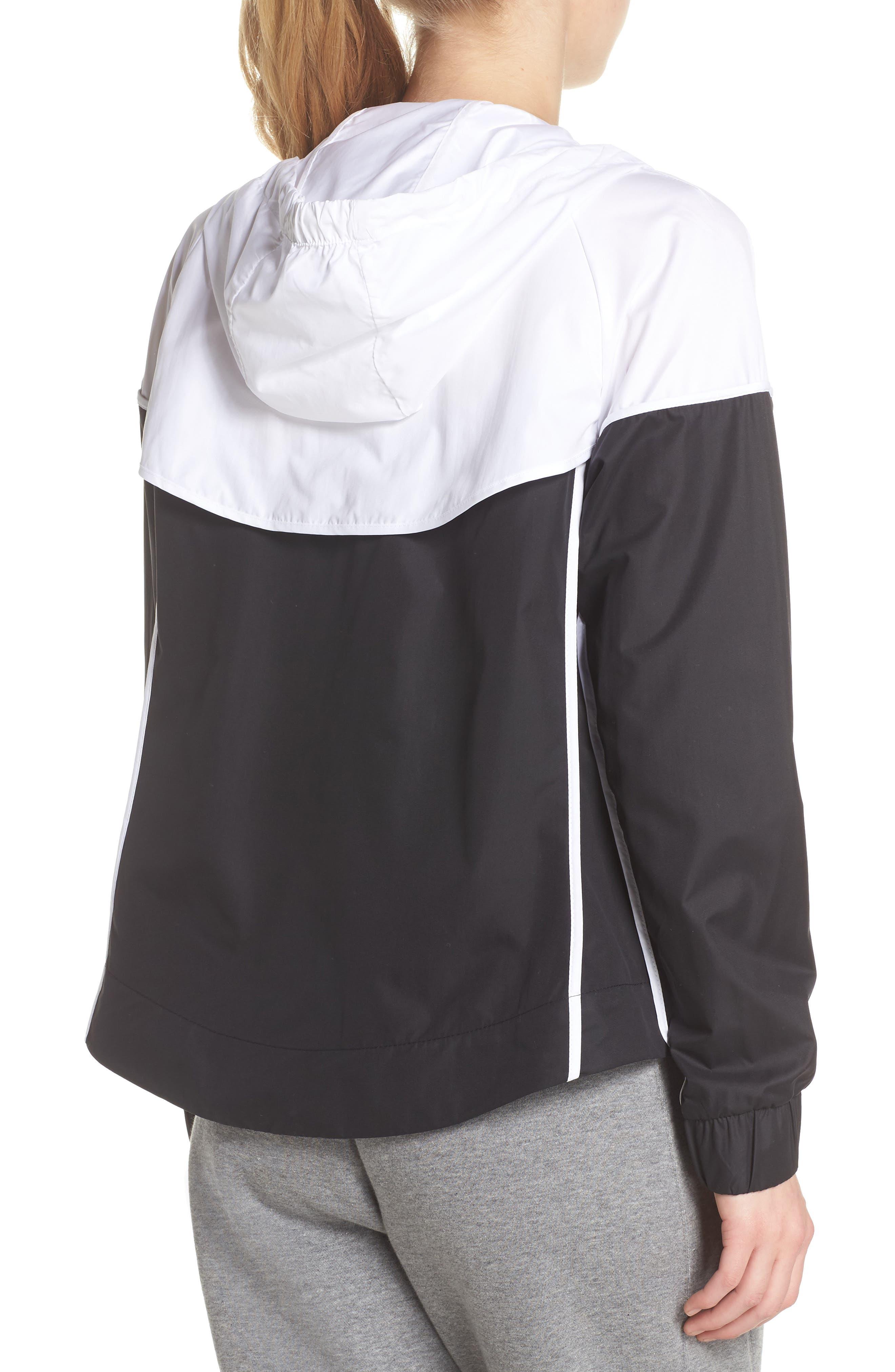 Sportswear Windrunner Jacket,                             Alternate thumbnail 2, color,                             BLACK/ WHITE/ BLACK