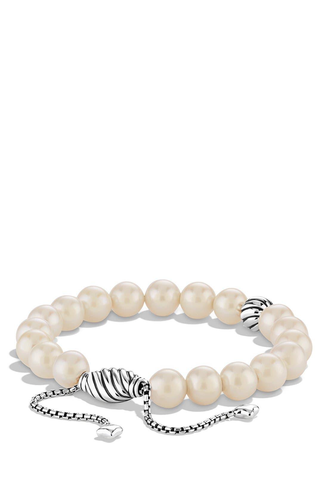 DAVID YURMAN,                             'Spiritual Beads' Bracelet with Pearls,                             Main thumbnail 1, color,                             101