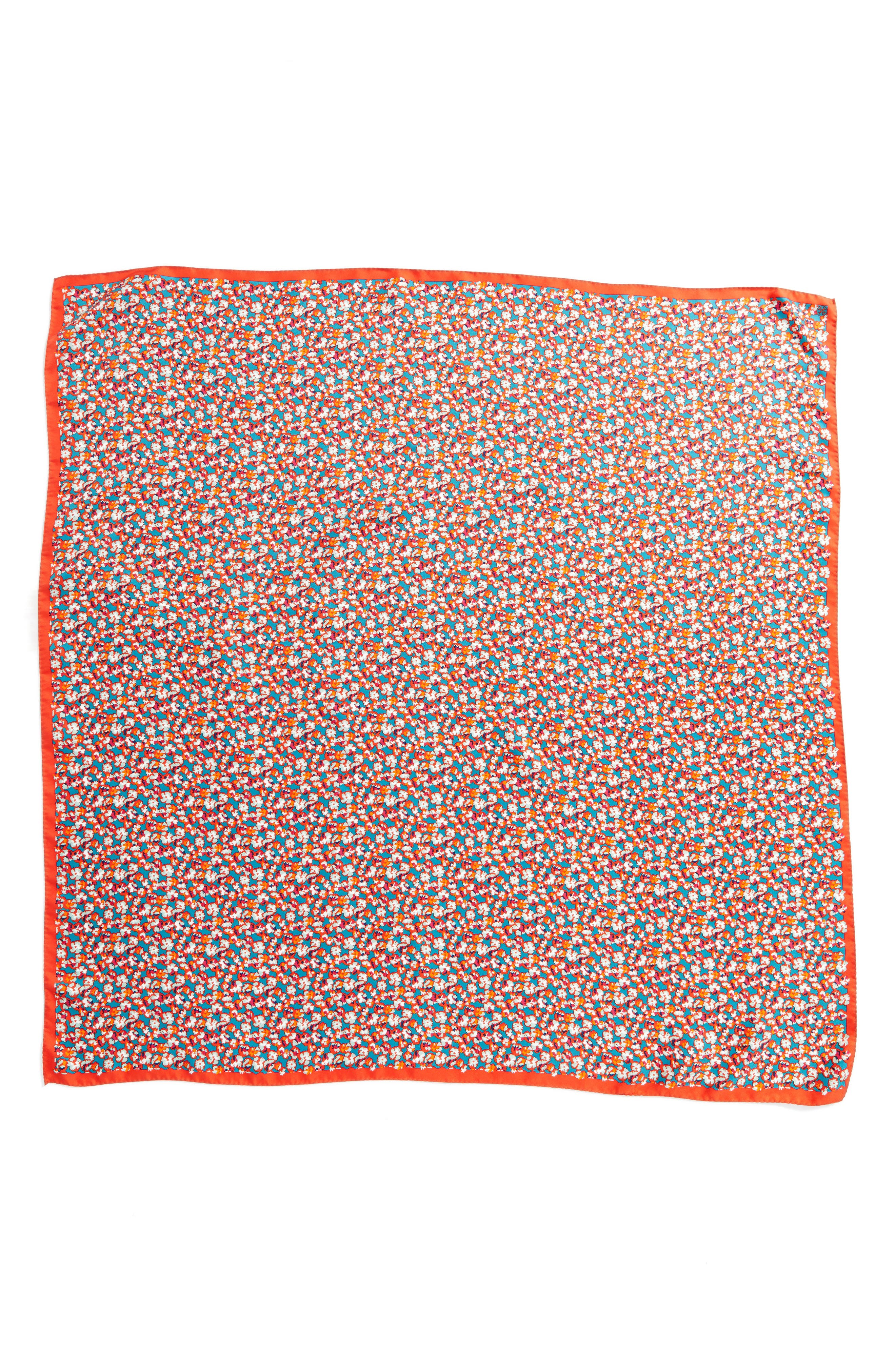 Carnation Silk Square Scarf,                             Alternate thumbnail 3, color,                             600