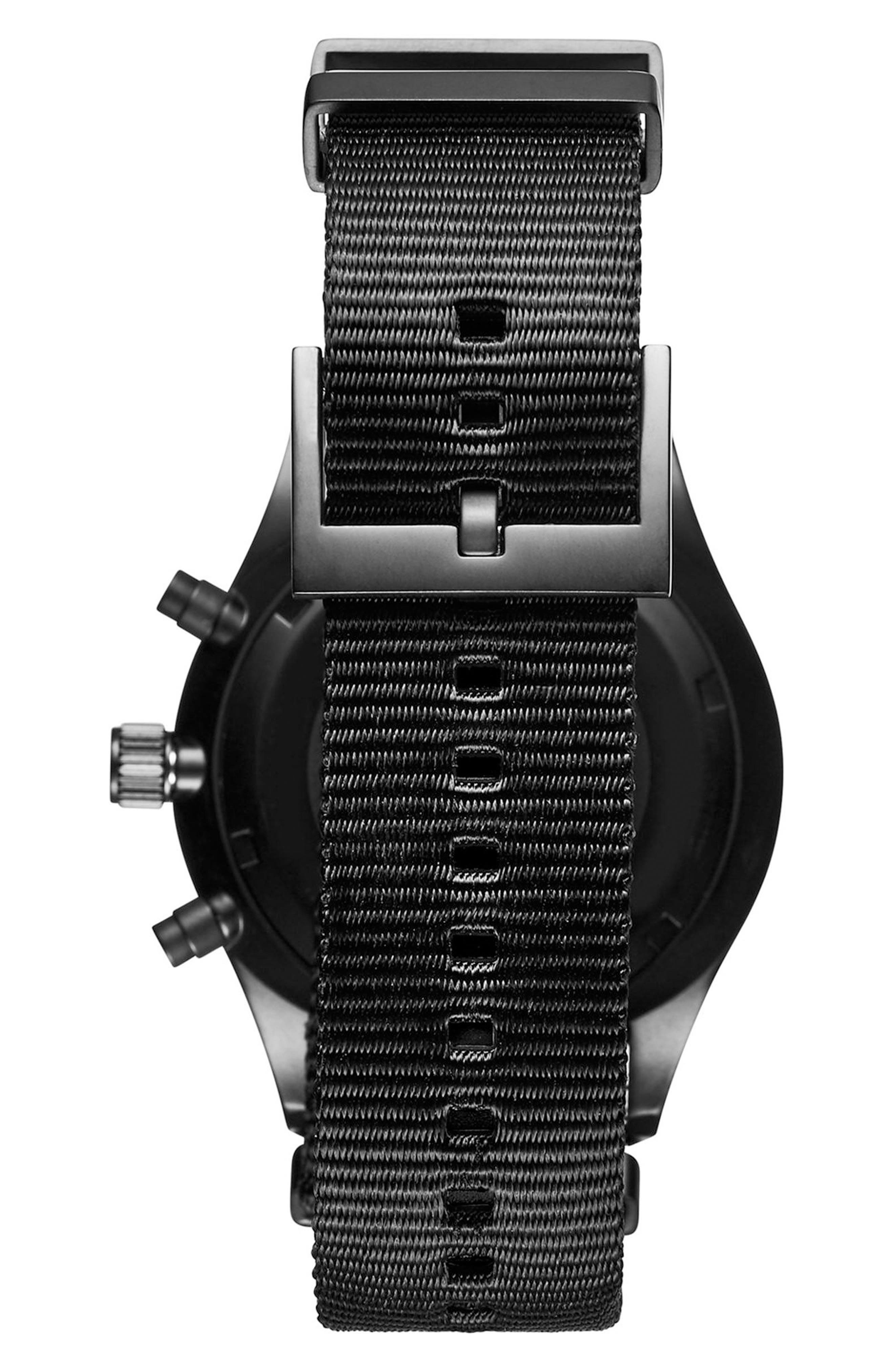 Voyager Chronograph Canvas Strap Watch, 42mm,                             Alternate thumbnail 2, color,                             001