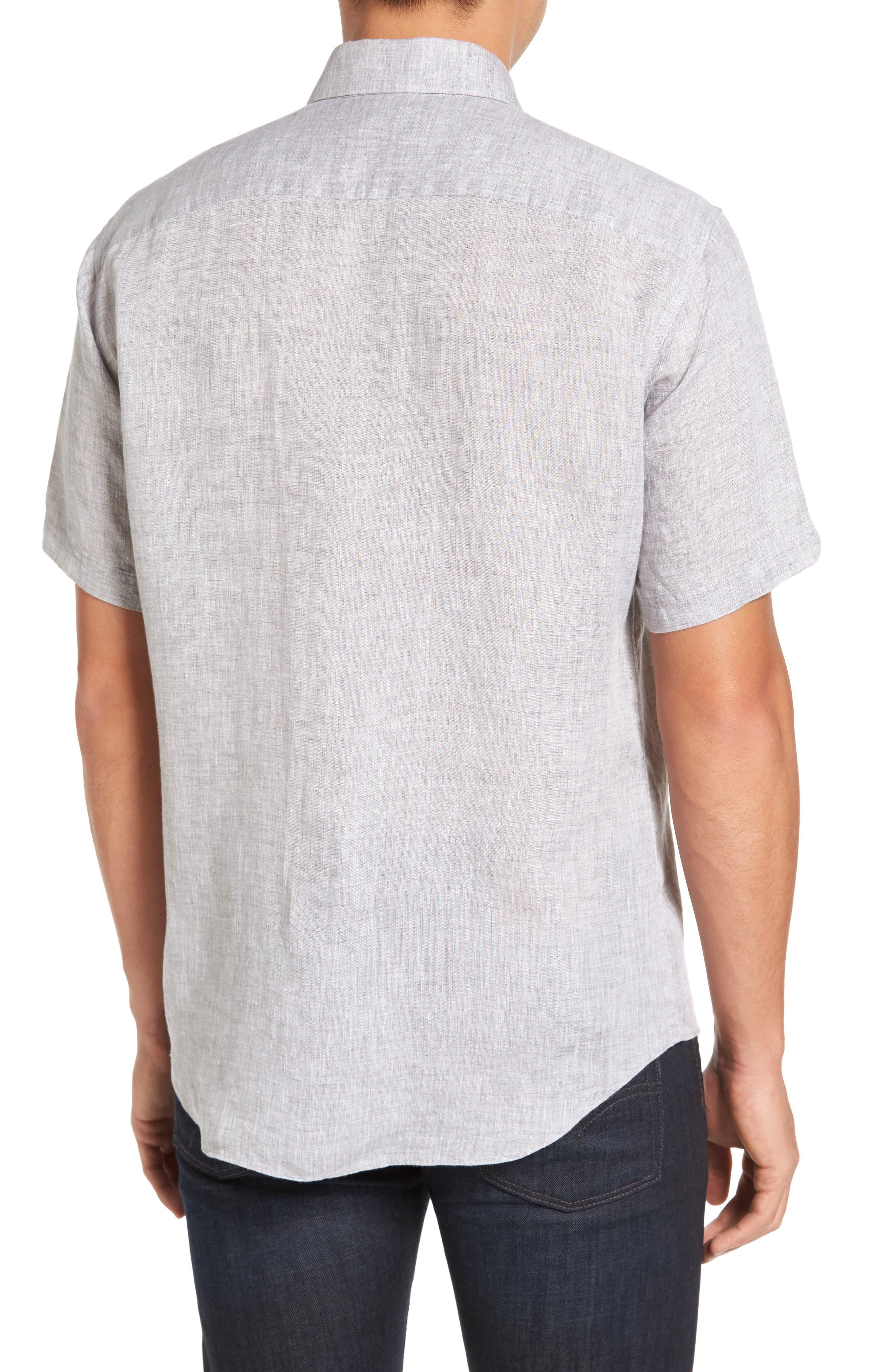 Kaplan Slim Fit Linen Sport Shirt,                             Alternate thumbnail 2, color,                             020
