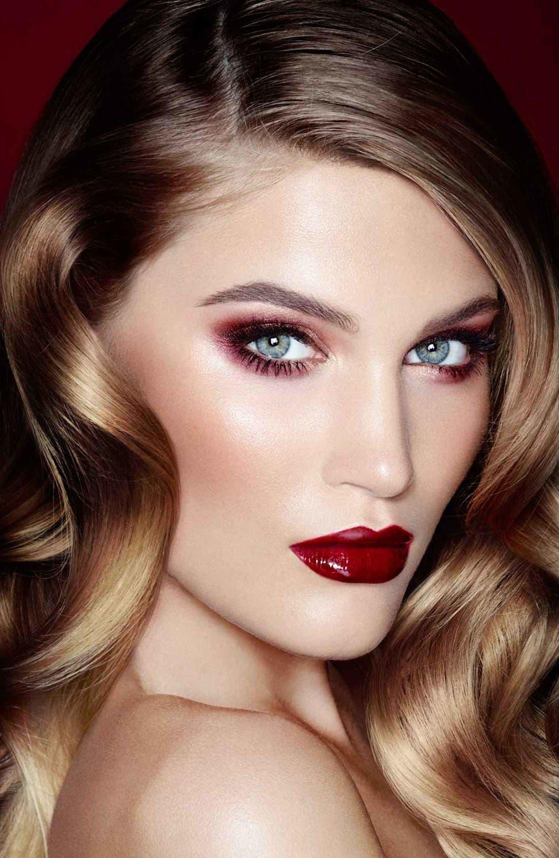 Luxury Palette - The Vintage Vamp Color-Coded Eyeshadow Palette,                             Alternate thumbnail 6, color,                             THE VINTAGE VAMP
